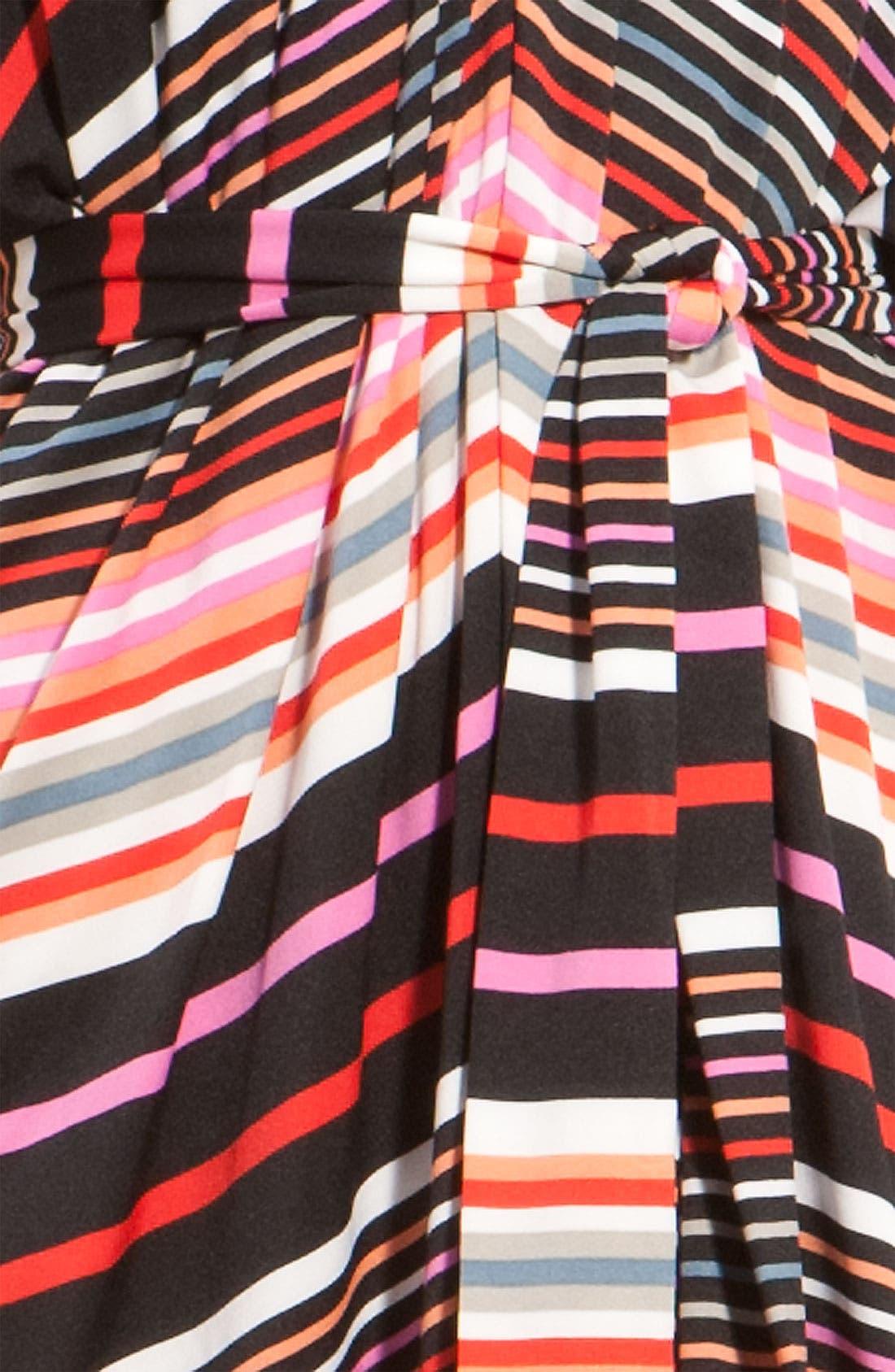 Alternate Image 3  - Suzi Chin for Maggy Boutique Stripe Jersey Halter Dress
