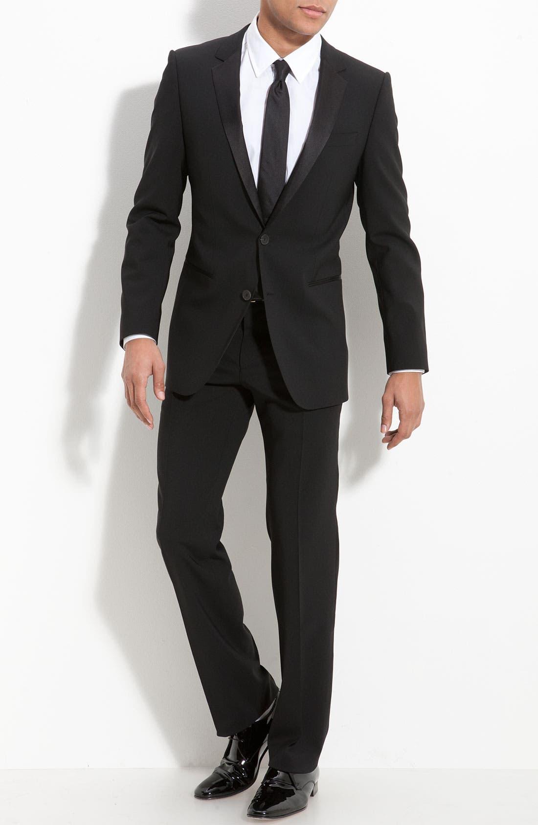 Alternate Image 1 Selected - HUGO 'Aikin Hollo' Trim Fit Wool Tuxedo