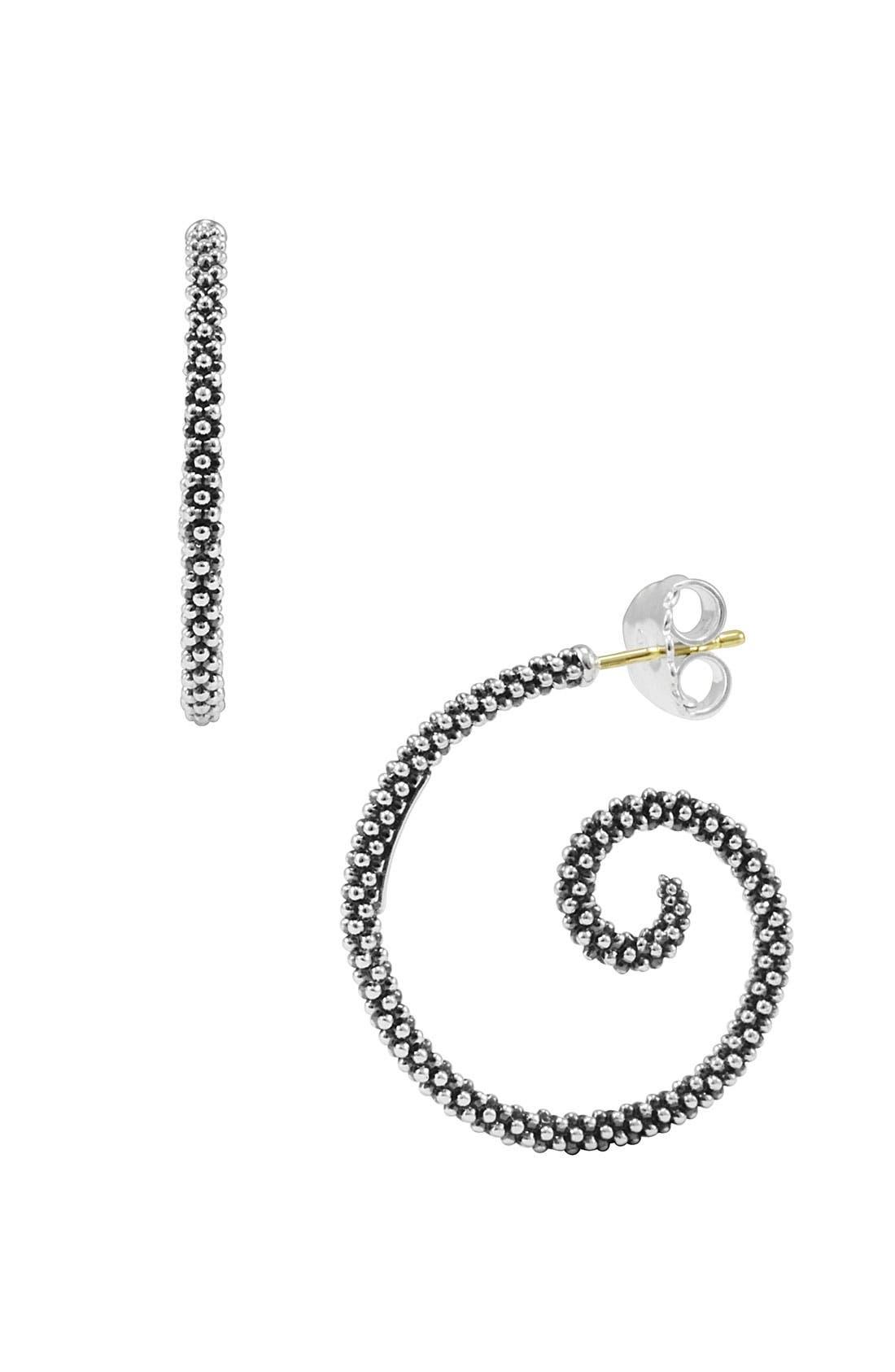 Alternate Image 1 Selected - LAGOS Caviar Swirl Hoop Earrings