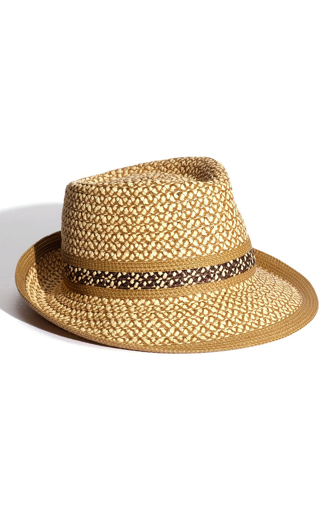 ERIC JAVITS SQUISHEE STRAW FEDORA - BROWN