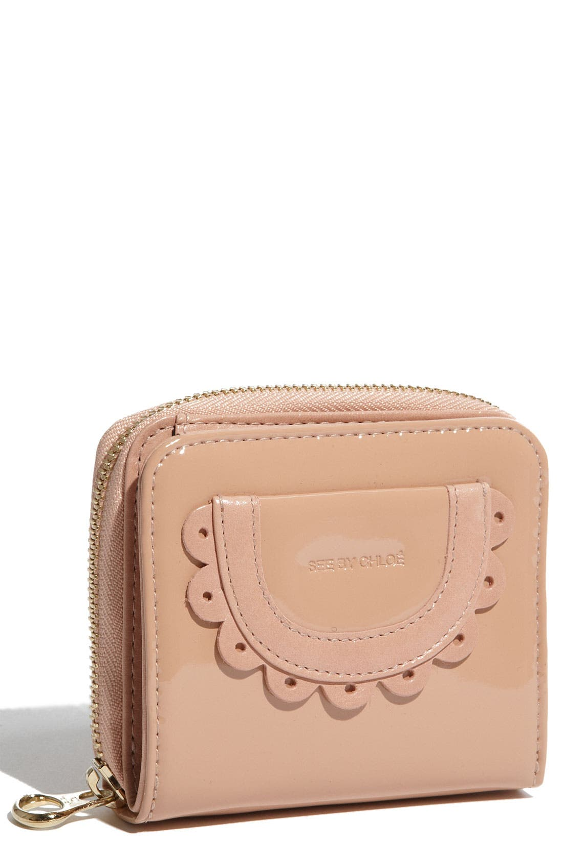 Main Image - See By Chloé Patent French Wallet