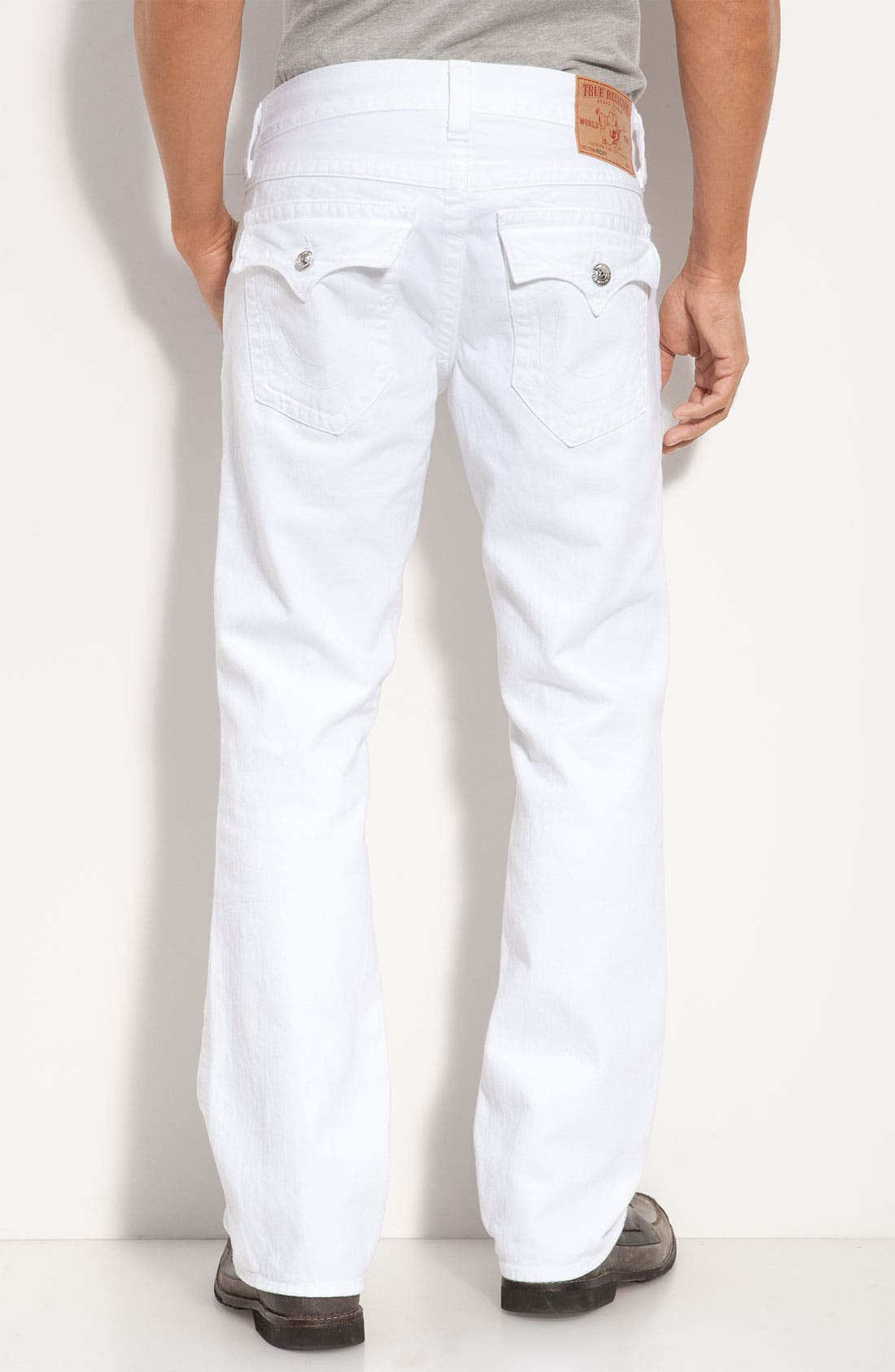 Alternate Image 1 Selected - True Religion Brand Jeans 'Ricky' Relaxed Straight Leg Jeans (Optic Rinse)
