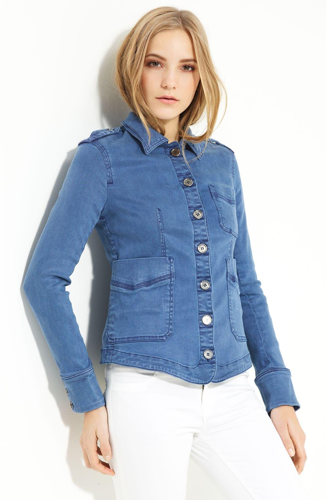 Main Image - Burberry Brit Denim Shirt Jacket