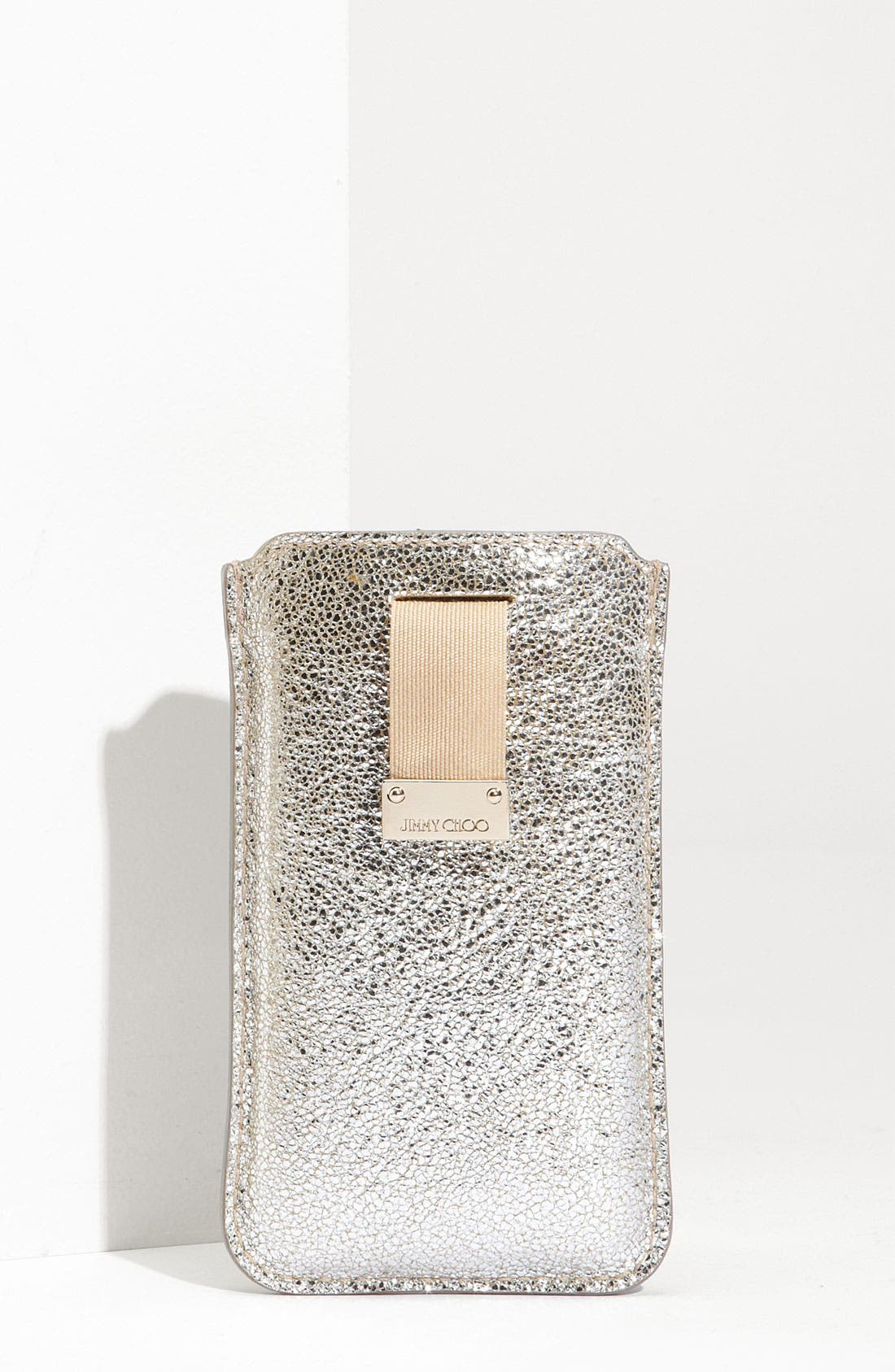 Main Image - Jimmy Choo 'Trent' Leather iPhone Case