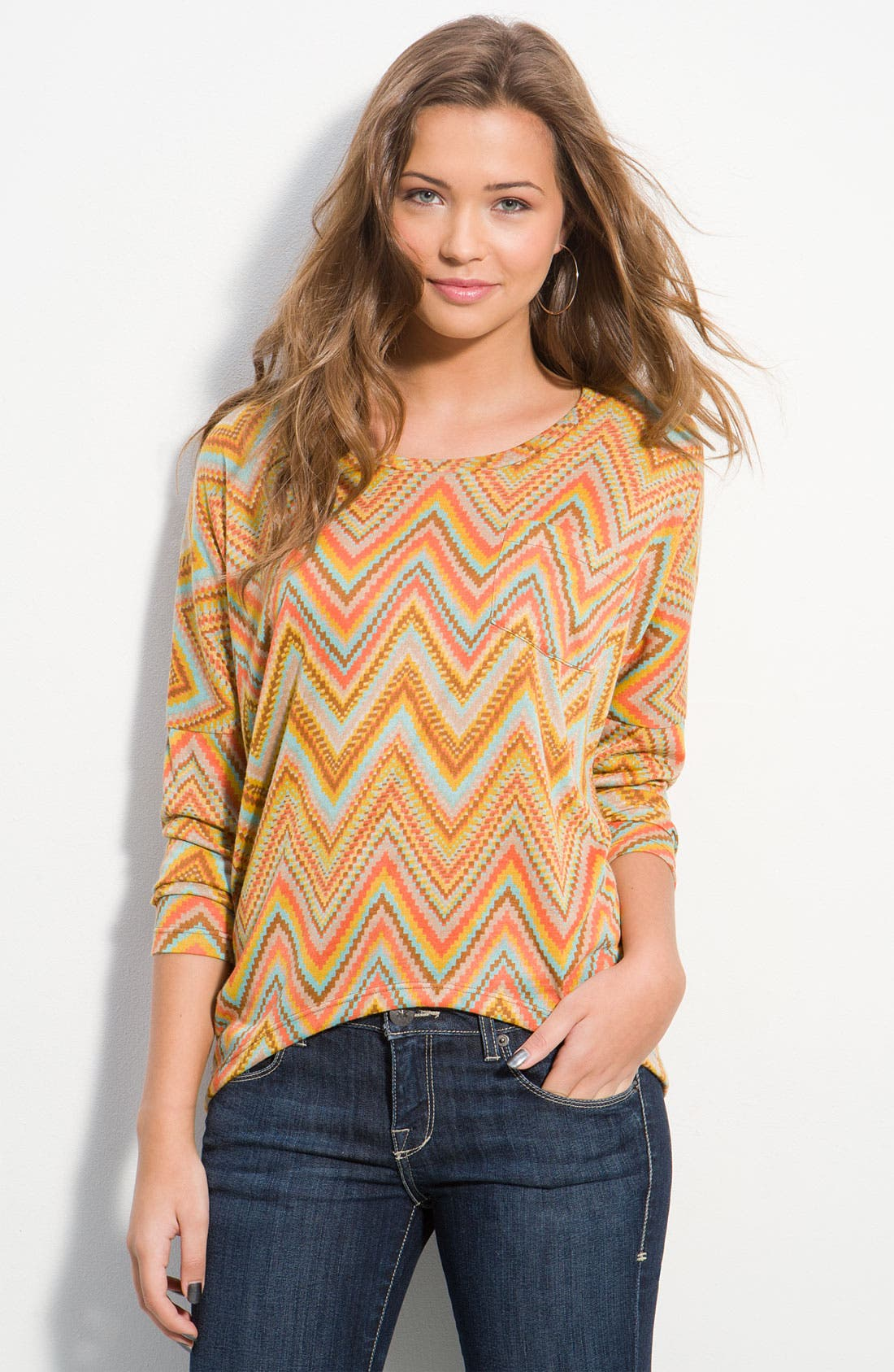 Alternate Image 1 Selected - Lily White Print Tunic (Juniors)