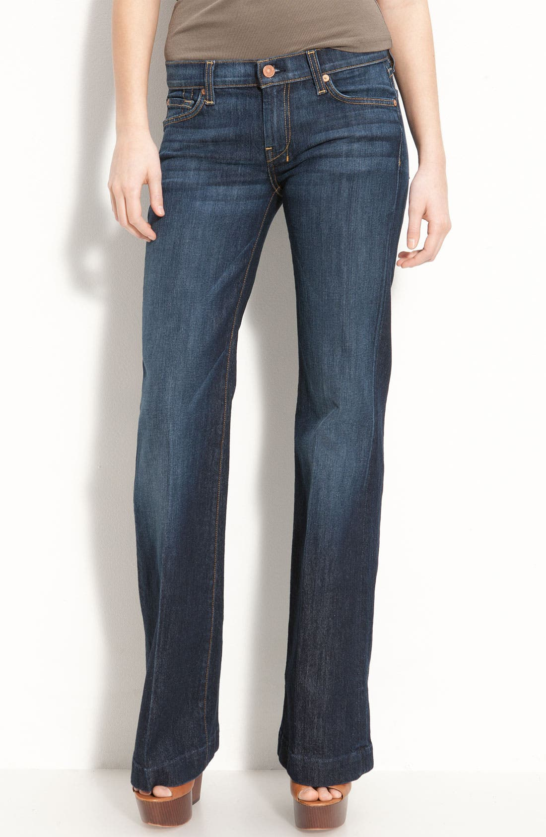 Main Image - 7 For All Mankind® 'Dojo' Stretch Trouser Jeans (Short) (Midnight New York)