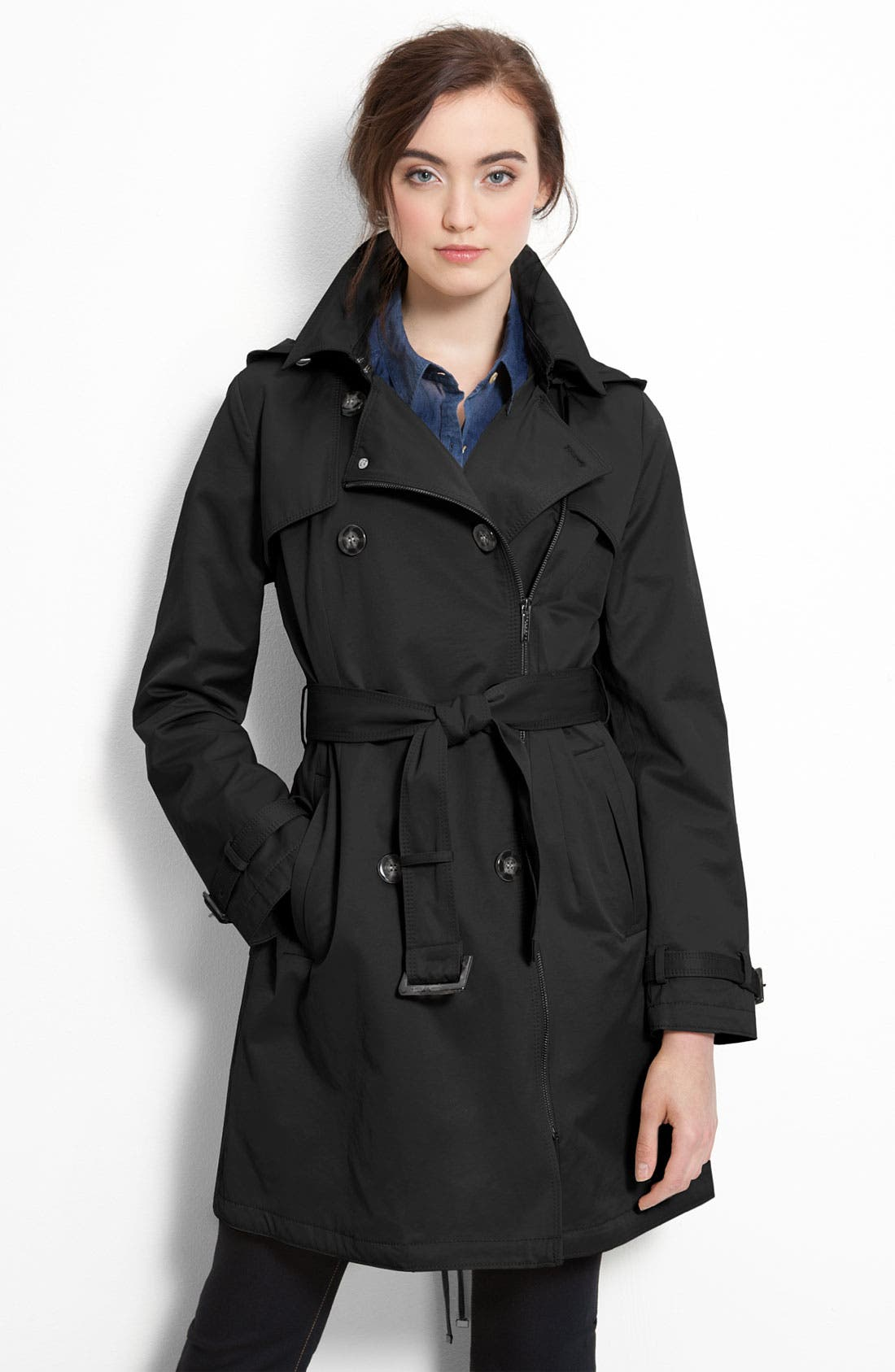 Alternate Image 1 Selected - Laundry by Shelli Segal Zip Trench Coat