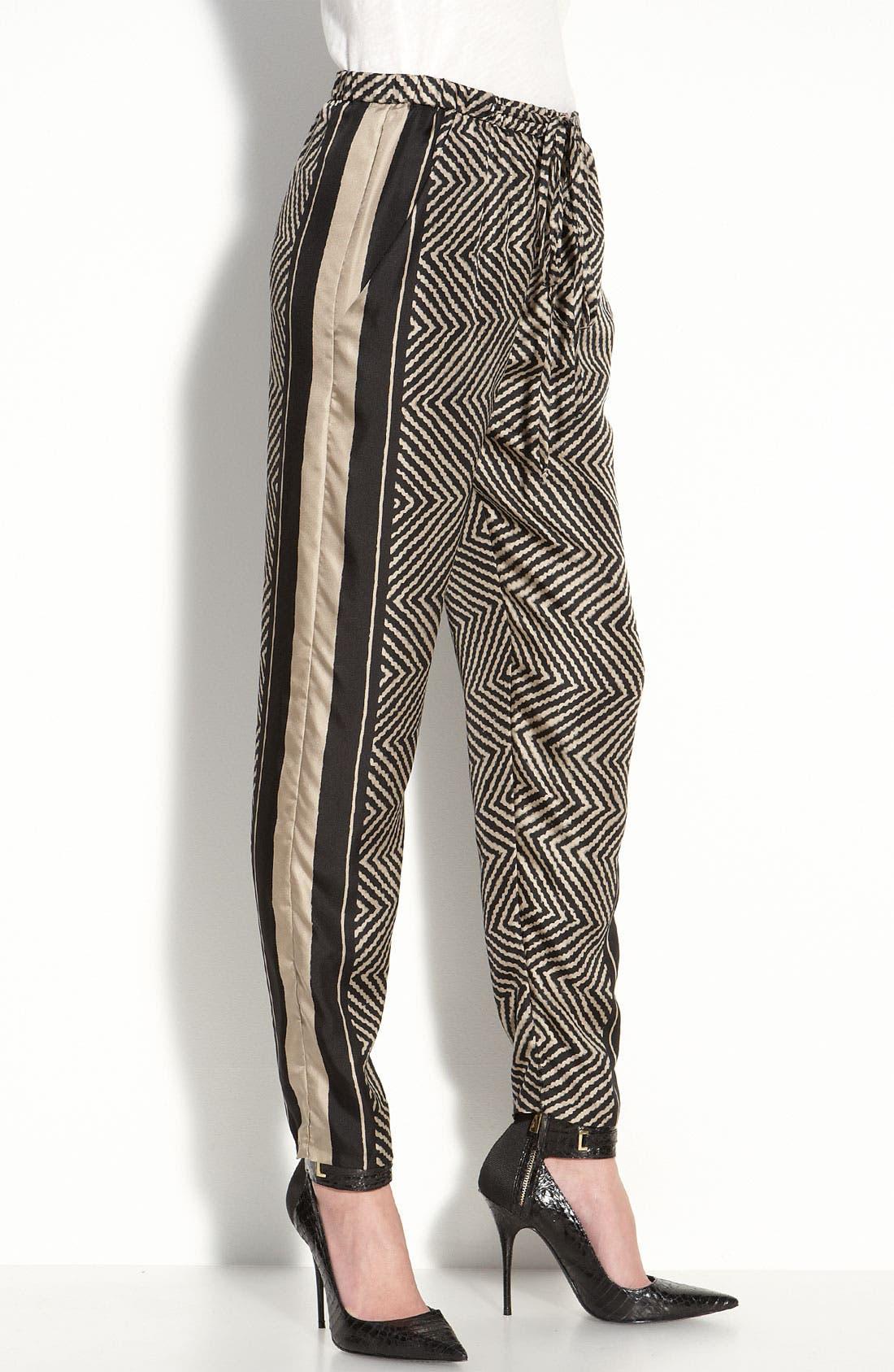 Alternate Image 2  - Elizabeth and James 'Bordered Nuri' Silk Pants
