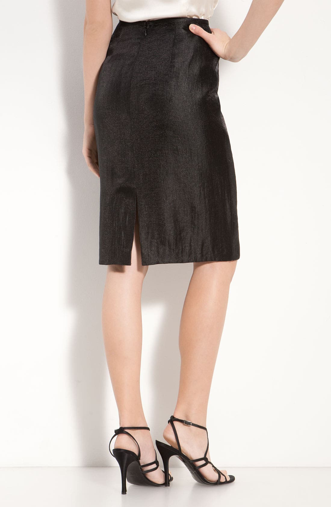 Alternate Image 3  - Adrianna Papell Metallic Pencil Skirt