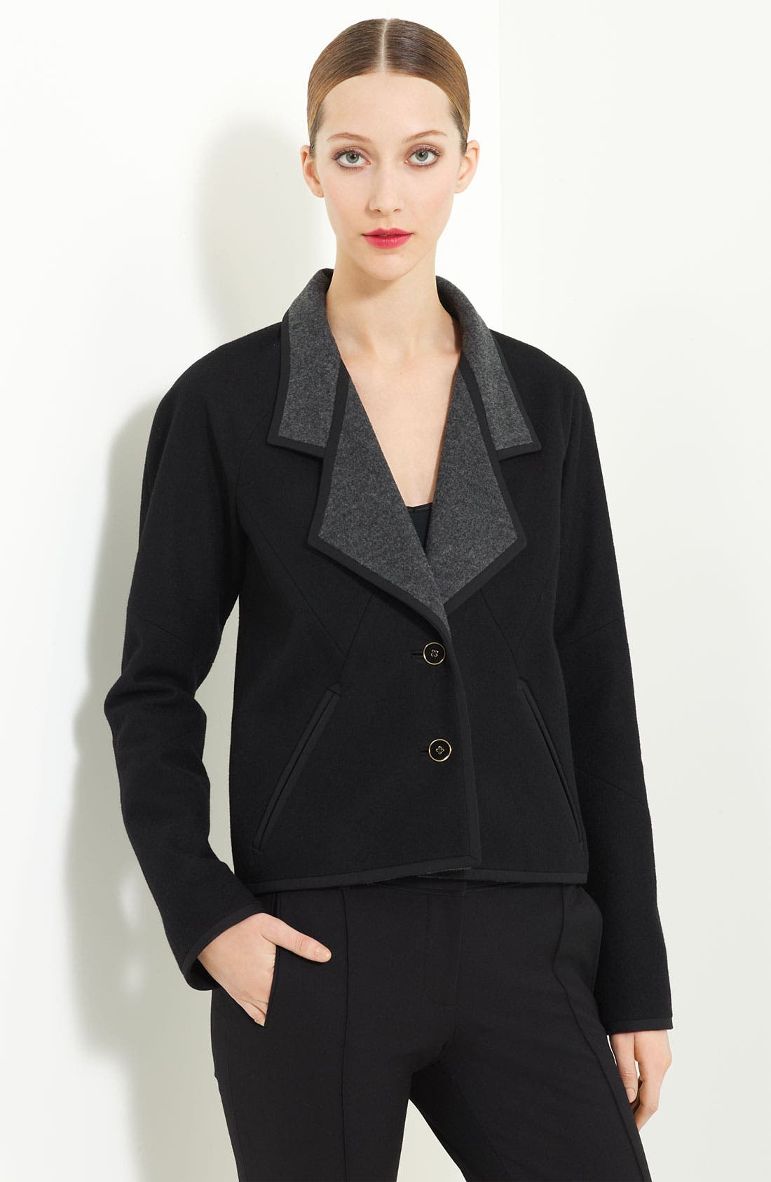 Alternate Image 1 Selected - Jason Wu Double Face Wool Crop Coat