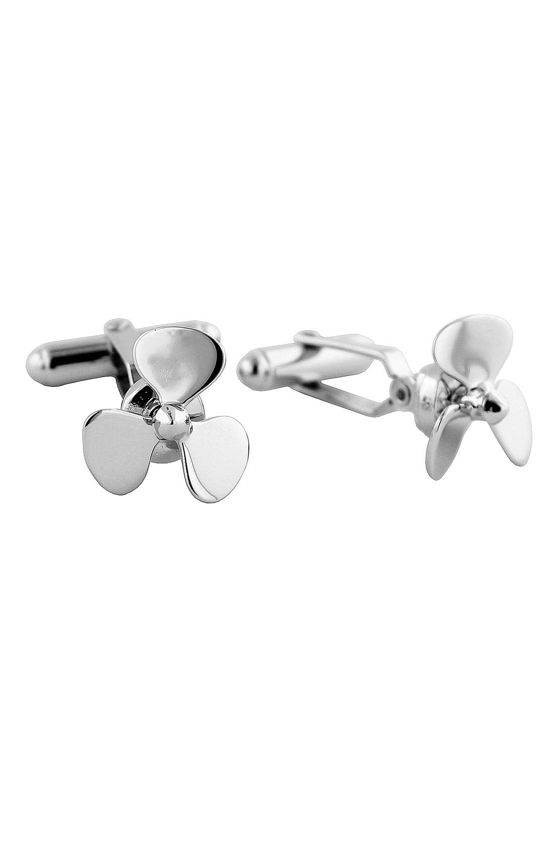 'Propeller' Cuff Links,                             Main thumbnail 1, color,                             Propeller