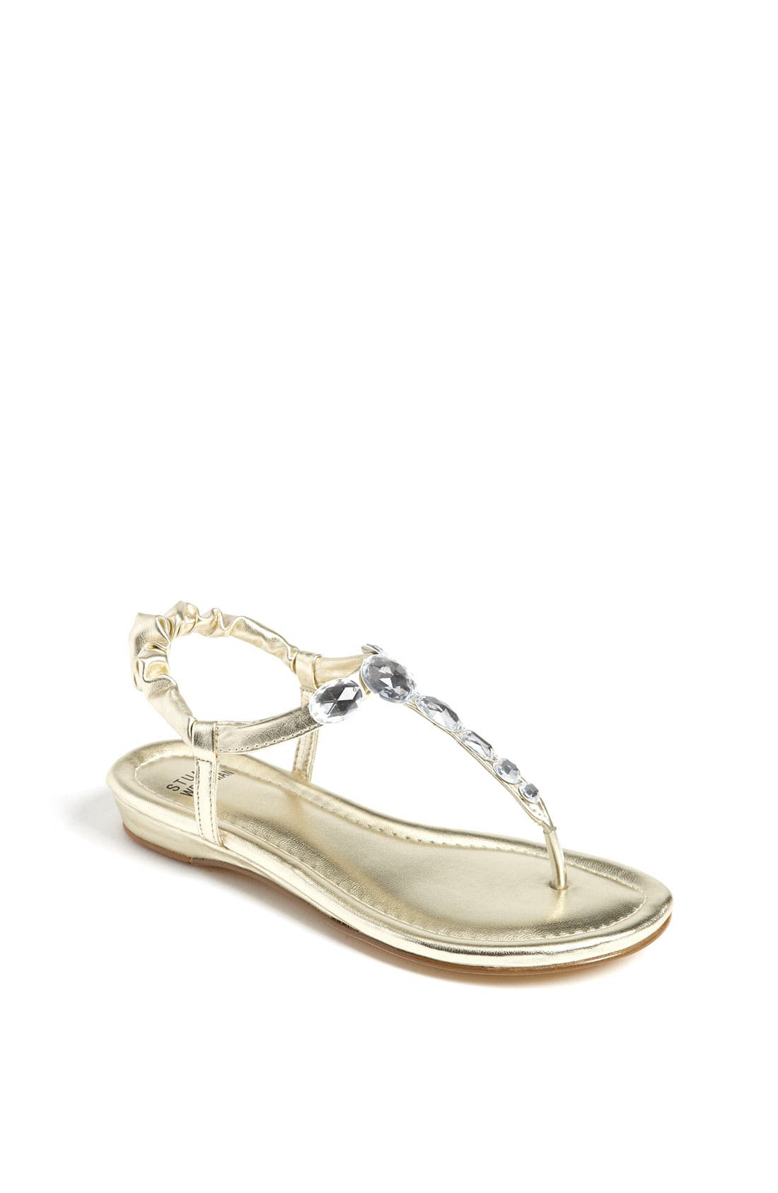 Alternate Image 1 Selected - Stuart Weitzman 'Bella' Sandal (Toddler, Little Kid & Big Kid)