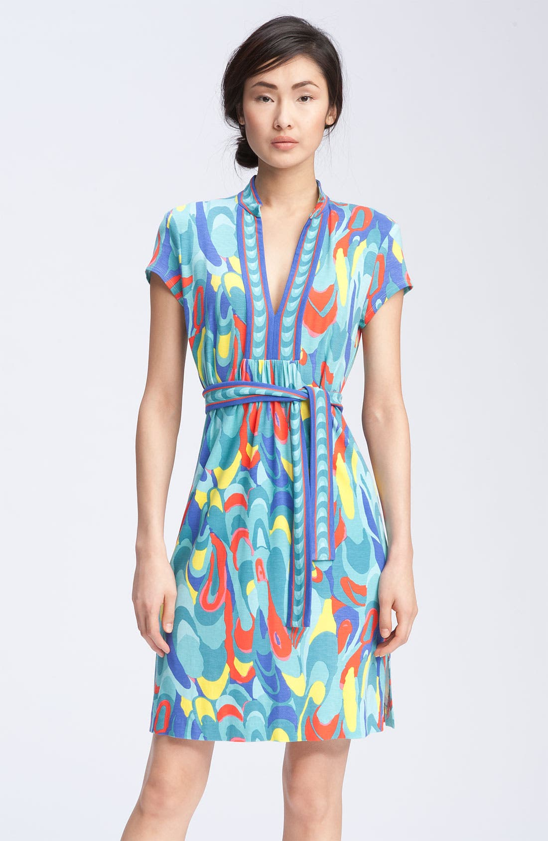 Main Image - Trina Turk Print Mandarin Collar Dress