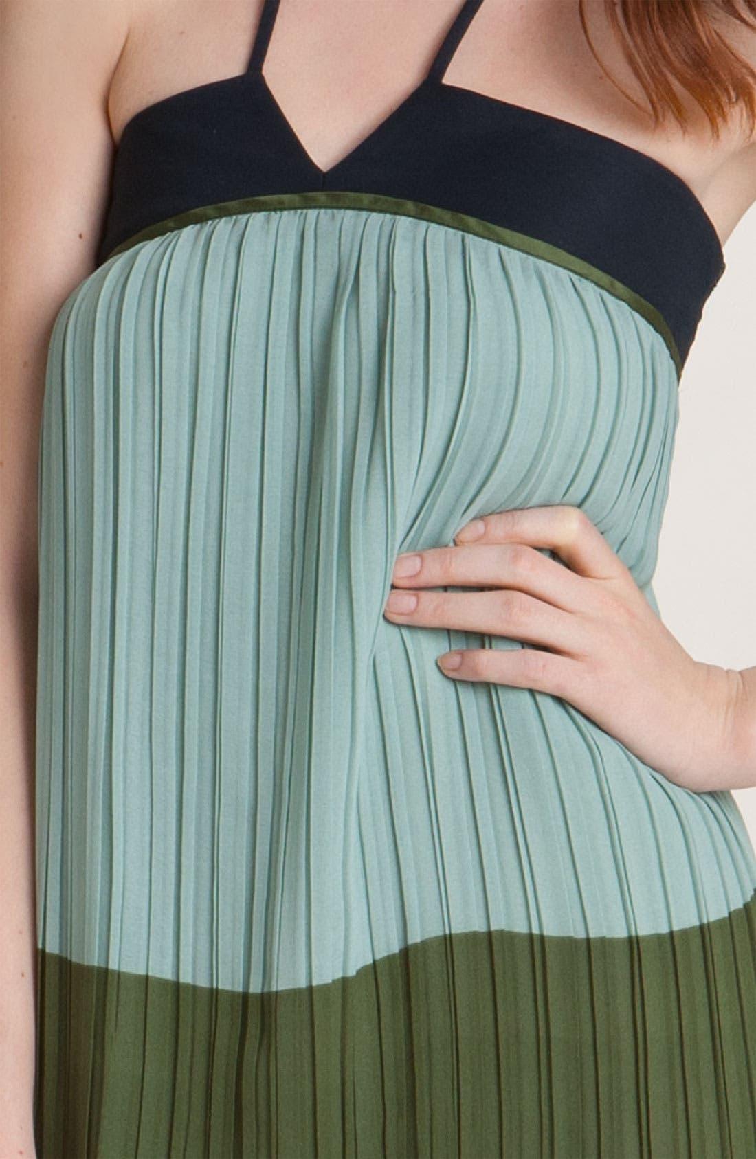 Alternate Image 3  - Derek Lam 10 Crosby Pleated Colorblock Halter Maxi Dress