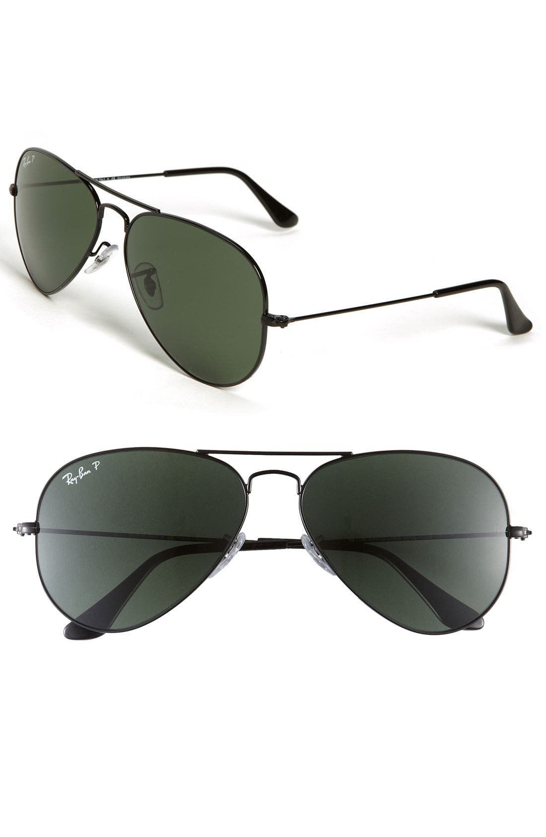 Alternate Image 1 Selected - Ray-Ban Original Aviator 58mm Polarized Sunglasses