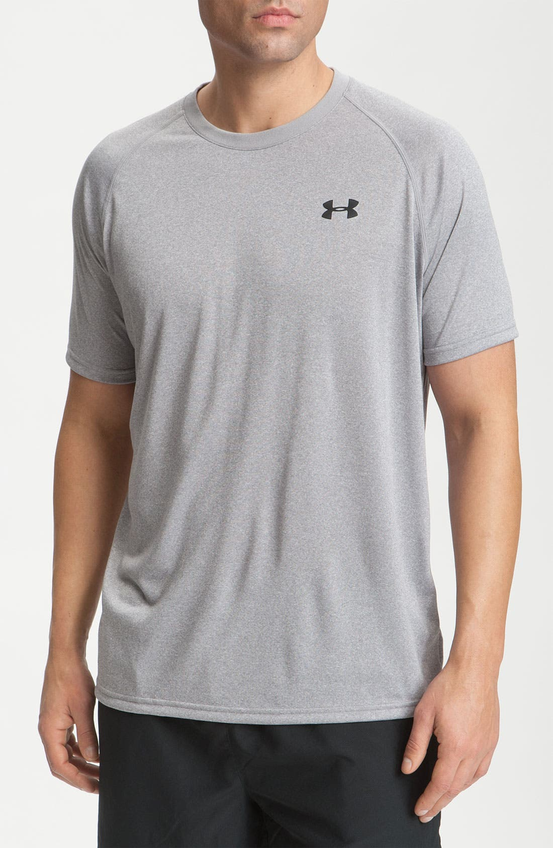 'UA Tech' Loose Fit Short Sleeve T-Shirt,                         Main,                         color, True Grey Heather