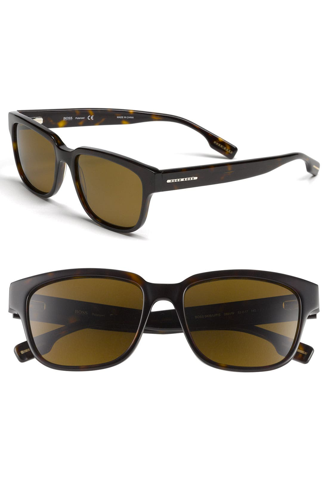 Alternate Image 1 Selected - BOSS HUGO BOSS 53mm Polarized Sunglasses