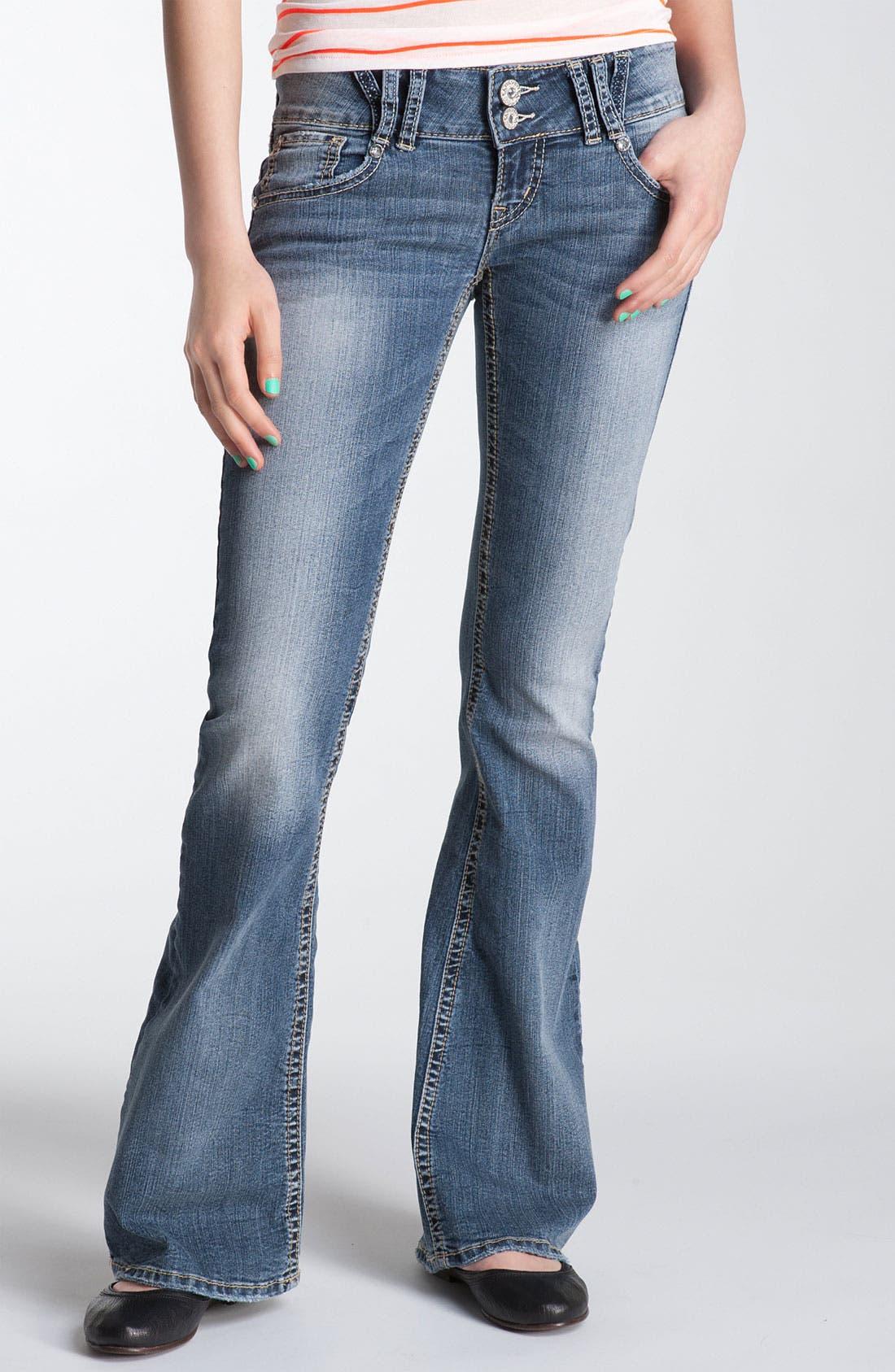 Alternate Image 2  - Silver Jeans Co. 'Dawson' Flare Leg Jeans (Juniors)