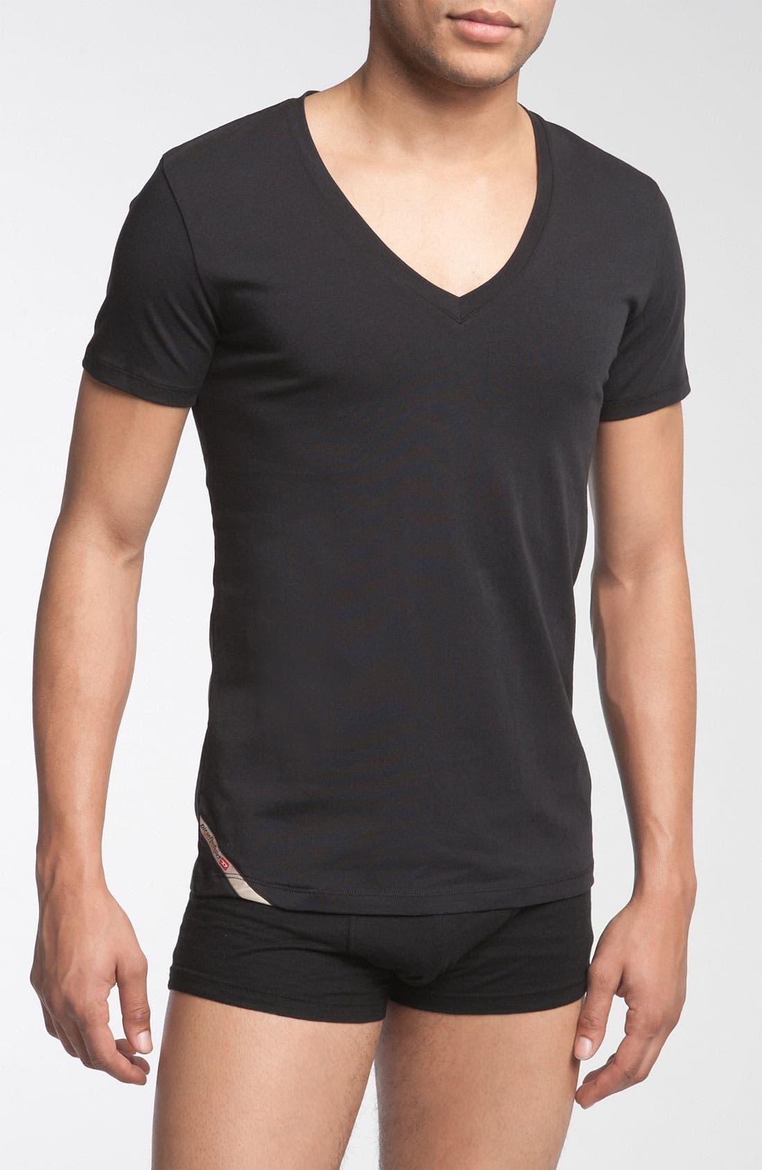 Main Image - DIESEL® Deep V-Neck T-Shirt