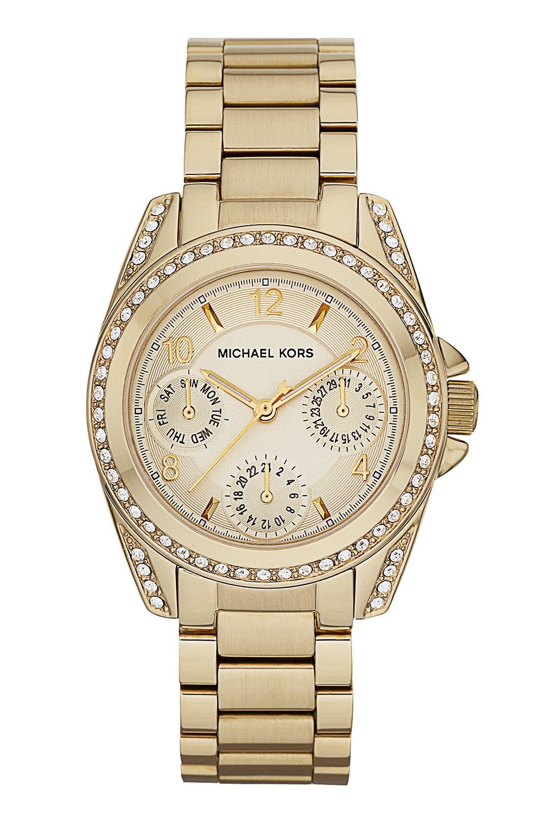 Main Image - Michael Kors 'Mini Blair' Multifunction Watch, 33mm