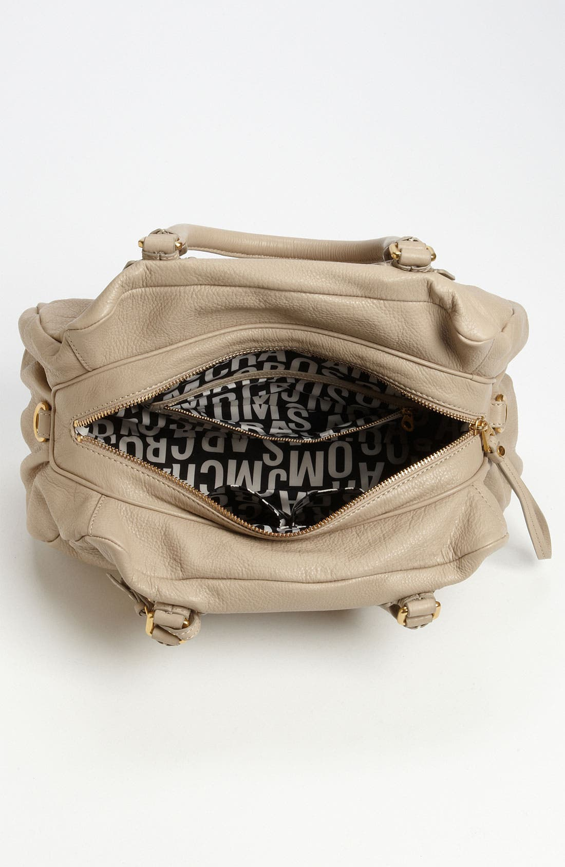 MARC BY MARC JACOBS 'Classic Q - Groovee' Satchel,                             Alternate thumbnail 3, color,                             Creme