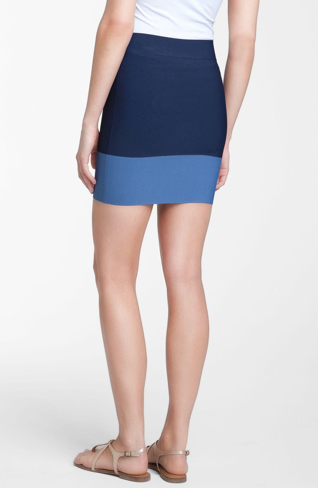 Alternate Image 2  - BCBGMAXAZRIA Colorblock Bandage Skirt