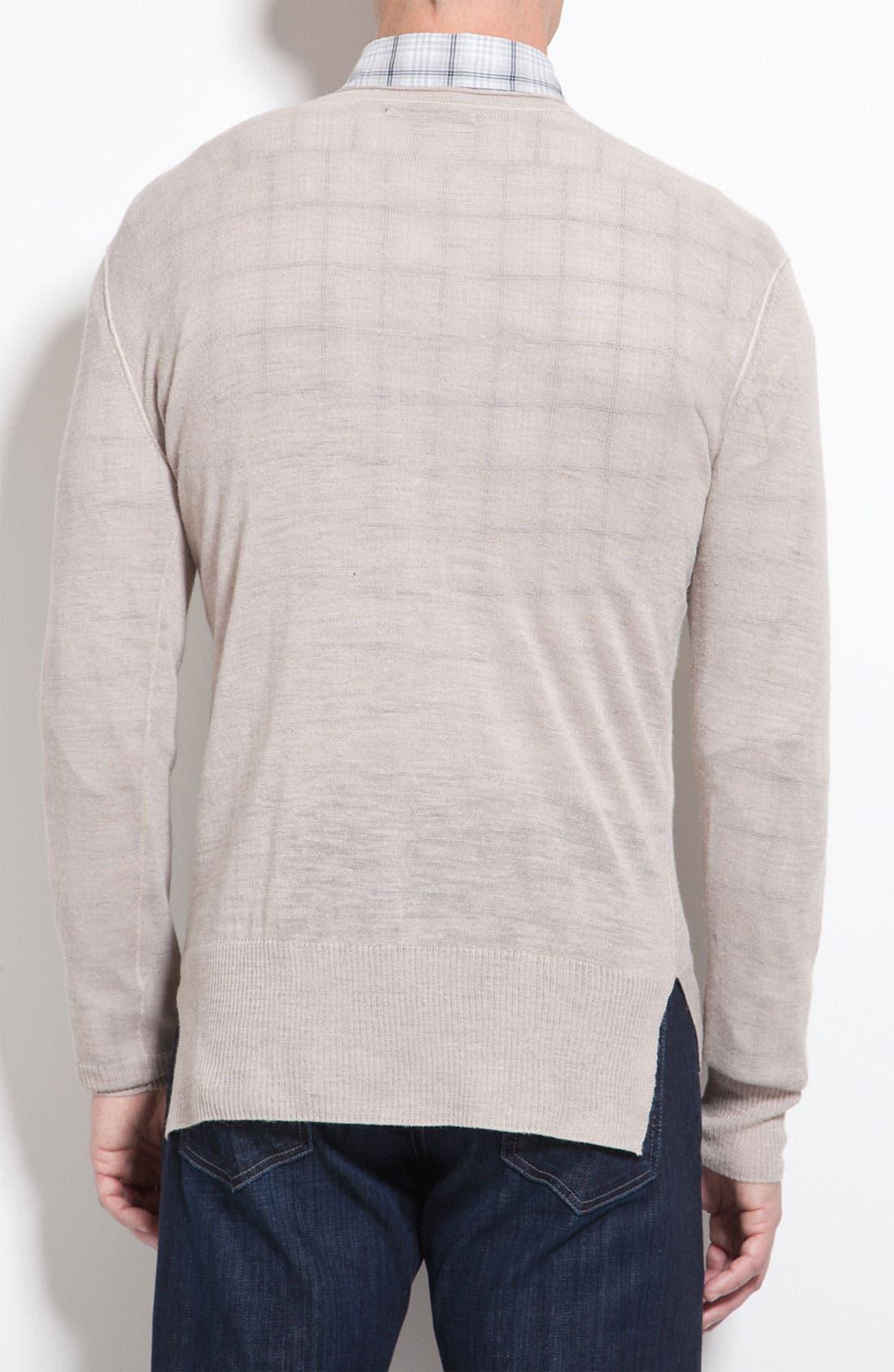Alternate Image 3  - John Varvatos Star USA Ribbed V-Neck Sweater