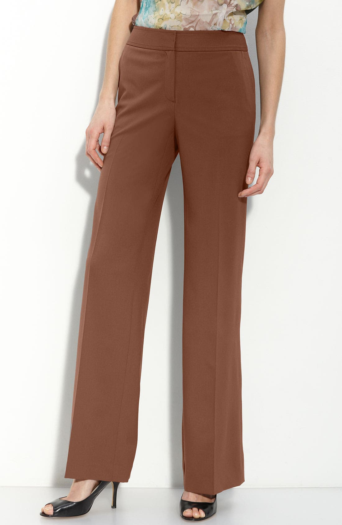 'Delancey' Stretch Wool Pants,                             Main thumbnail 1, color,                             Coconut