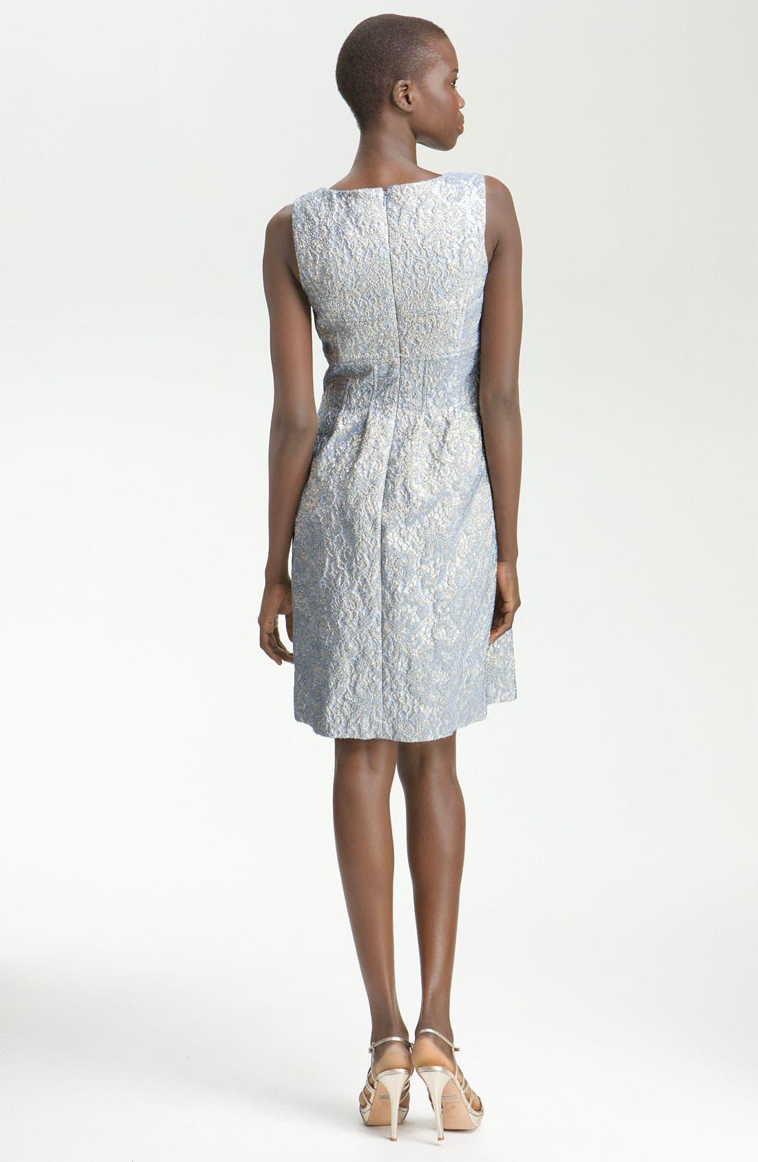 Alternate Image 2  - Lela Rose Metallic Embossed Sheath Dress