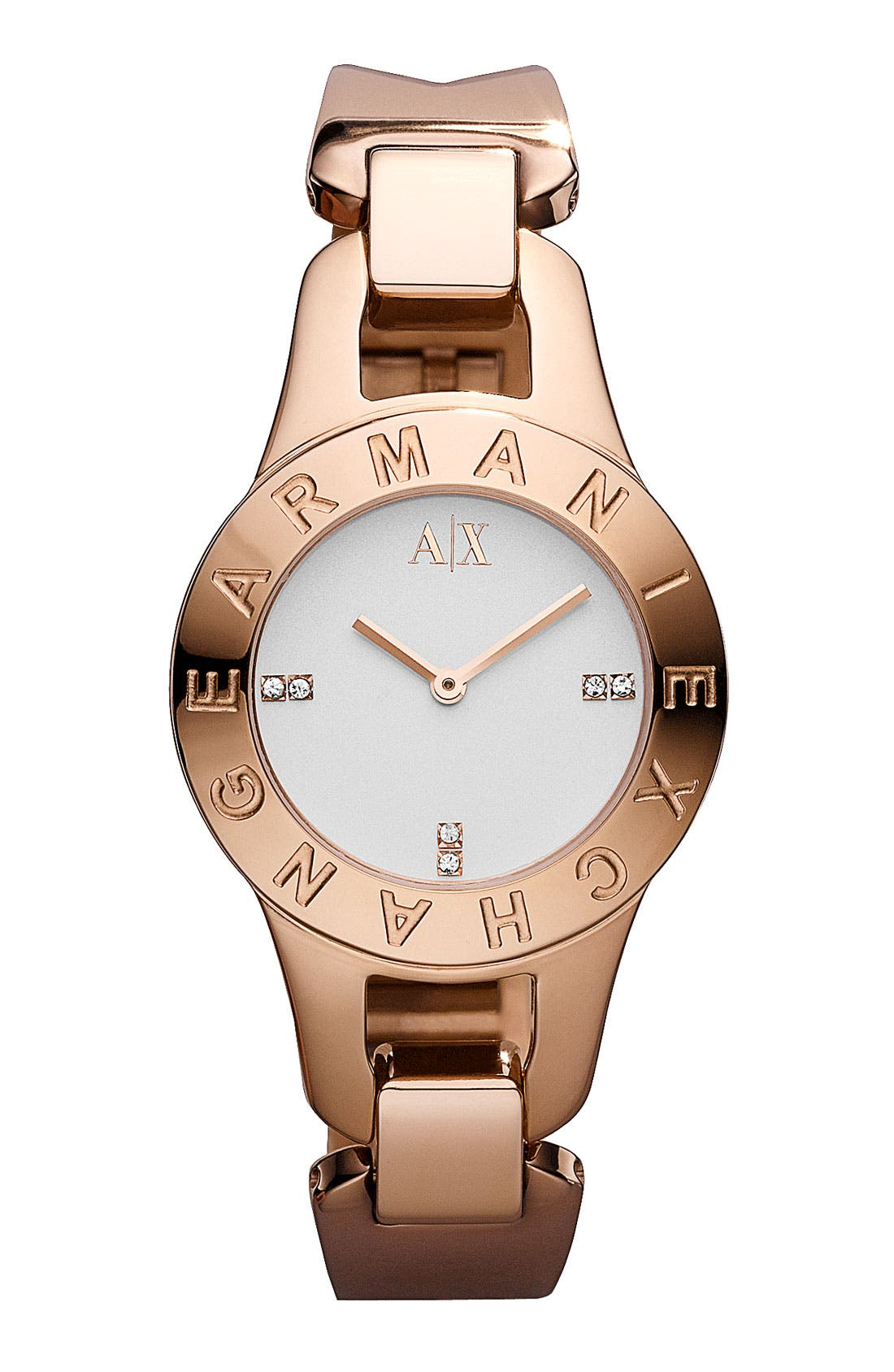 Alternate Image 1 Selected - AX Armani Exchange Logo Bezel Watch, 30mm (Online Only)