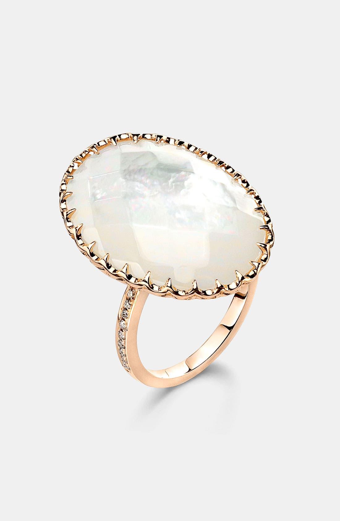 Main Image - Ivanka Trump Oval Stone Cocktail Ring