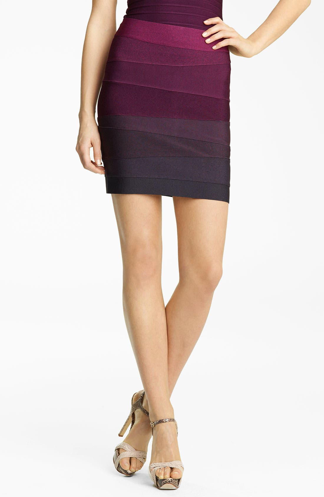 Alternate Image 1 Selected - Herve Leger Ombré Bandage Miniskirt