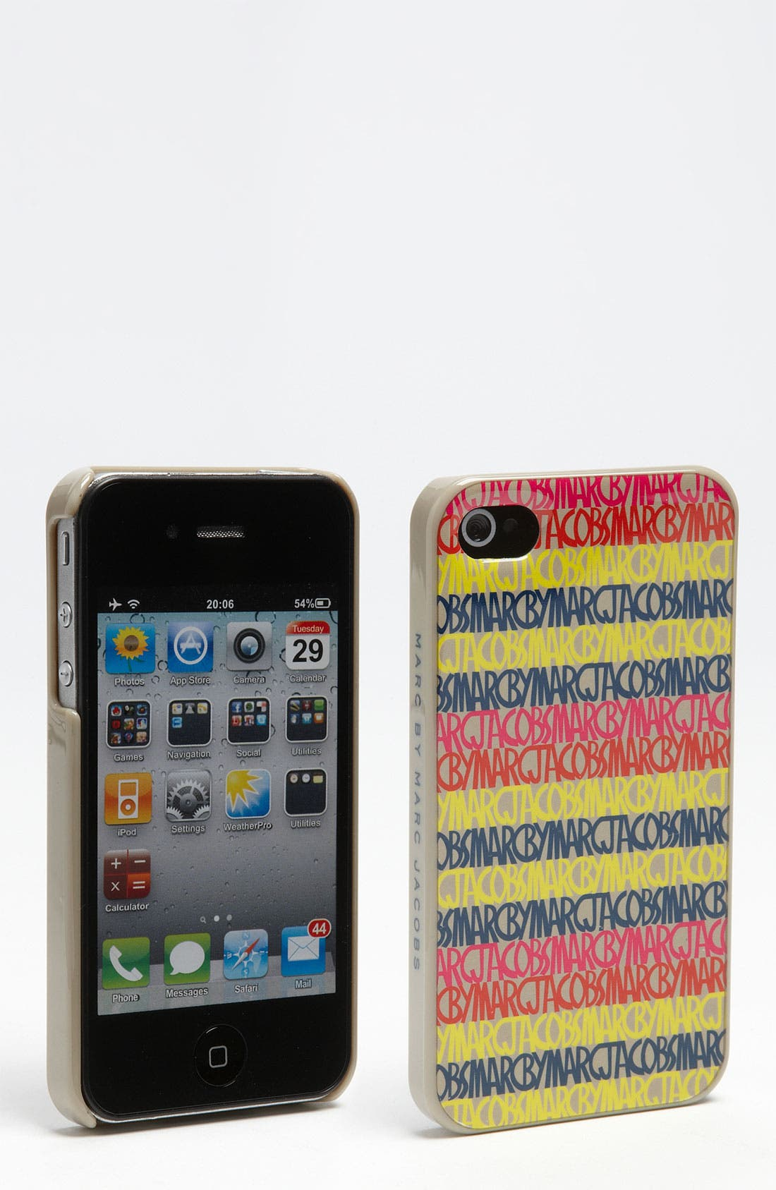 Main Image - MARC BY MARC JACOBS 'Linear Logo' iPhone 4 & 4S Case