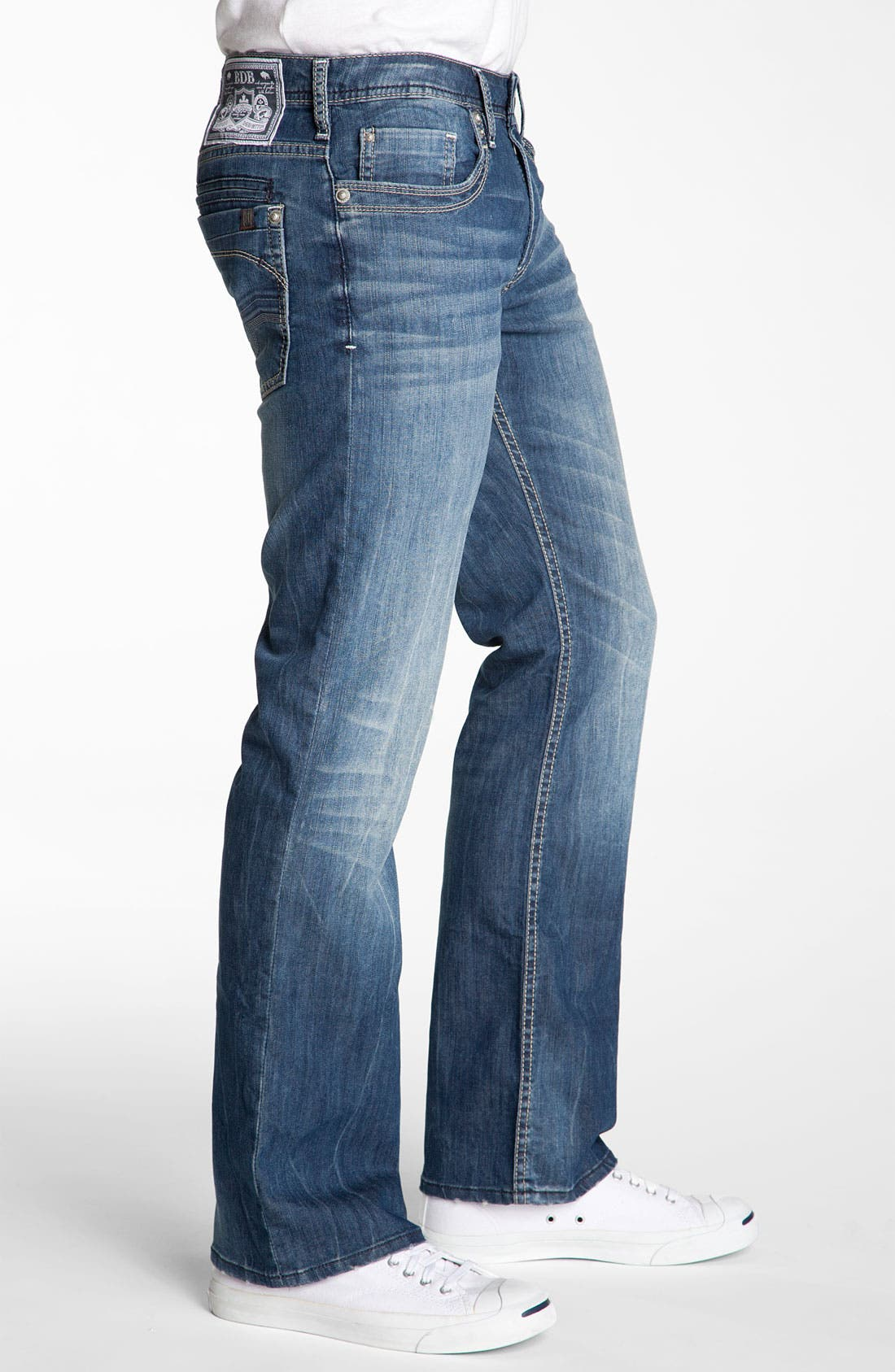 Alternate Image 3  - Buffalo Jeans 'Dixel' Straight Leg Jeans (Aged & Distressed Wash)