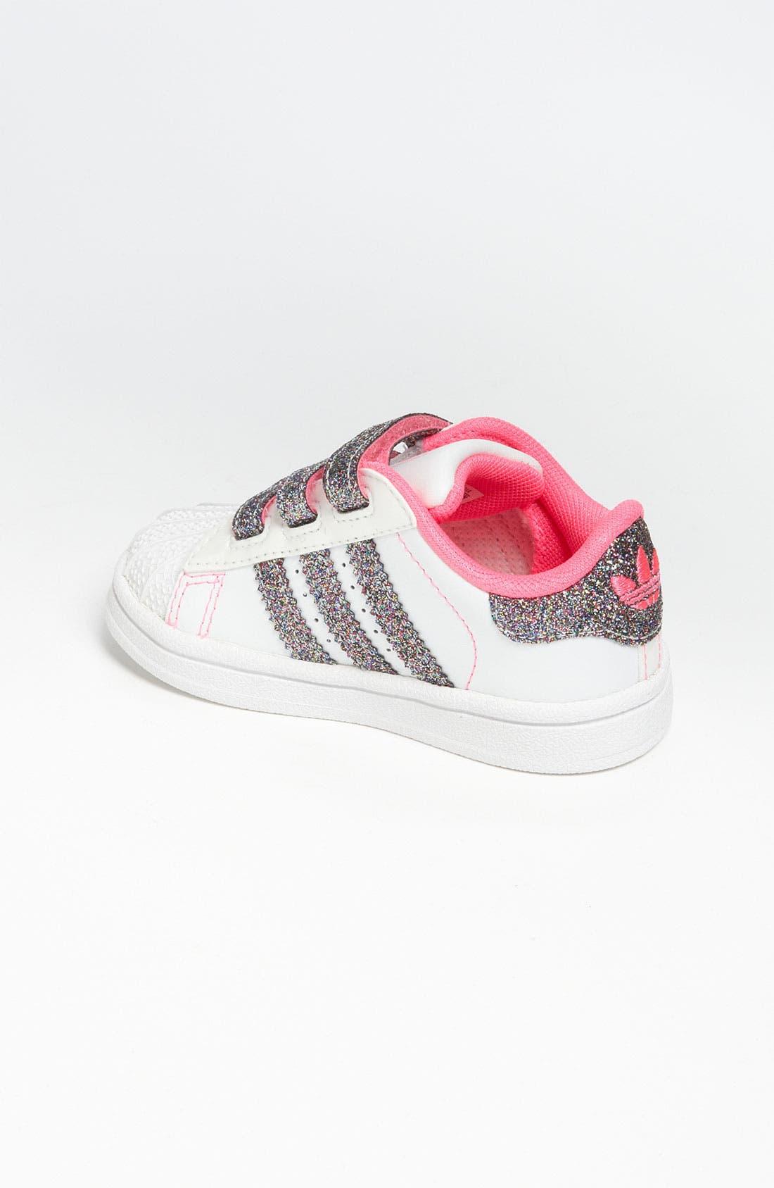 Alternate Image 2  - adidas 'Sparkle Superstar 2' Sneaker (Baby, Walker & Toddler)