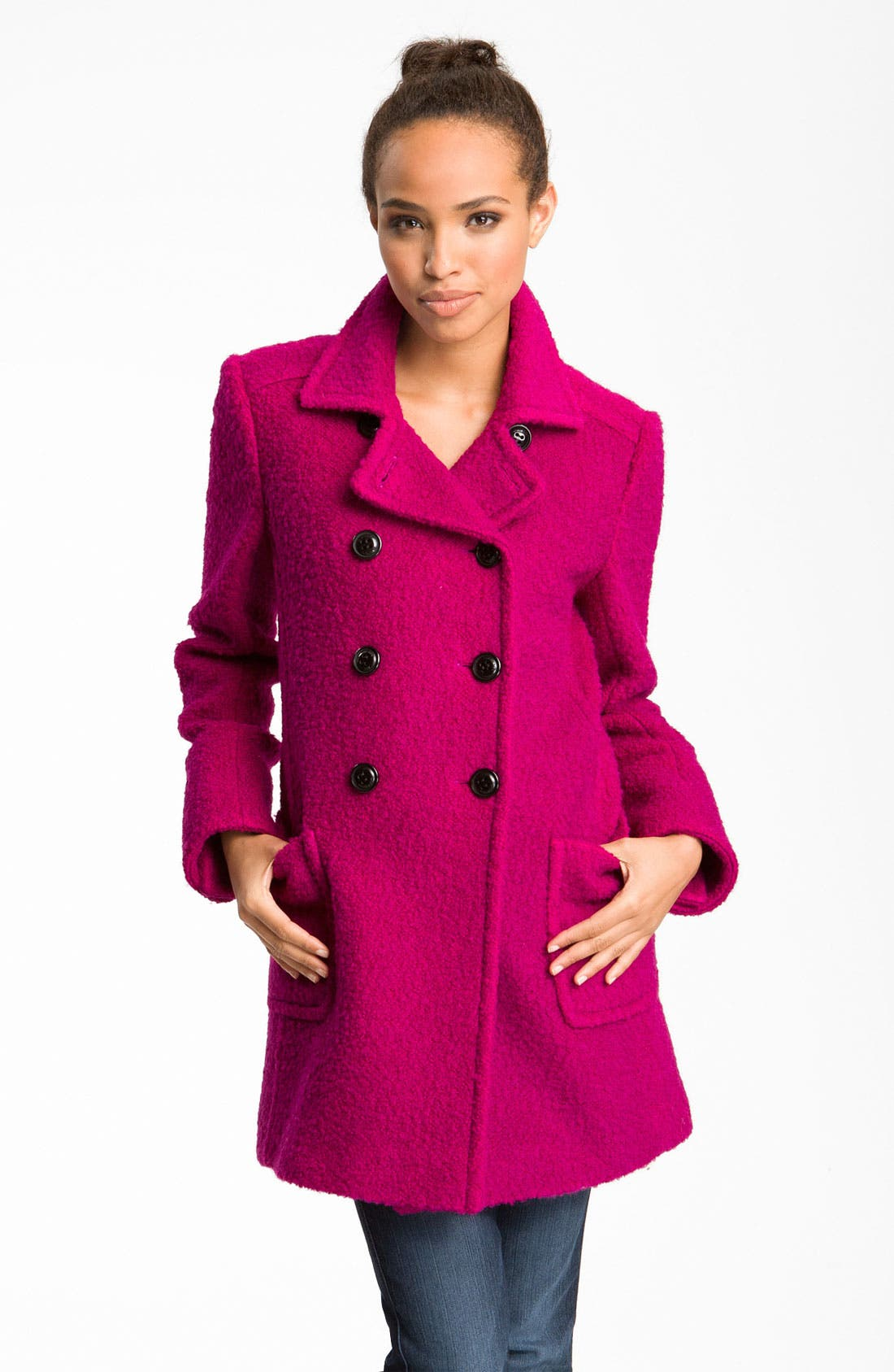 Main Image - DKNY Double Breasted Coat