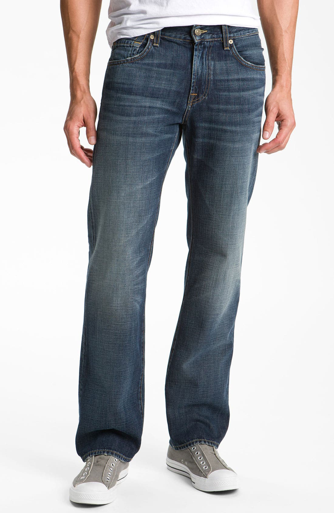 Alternate Image 2  - 7 For All Mankind® 'Austyn' Relaxed Straight Leg Jeans (California Dusk)