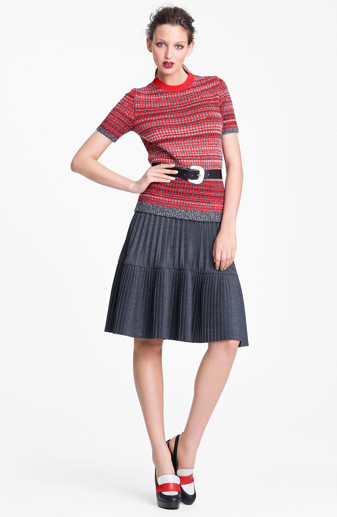 Alternate Image 5  - Marni Edition Pleated Mélange Flannel Skirt