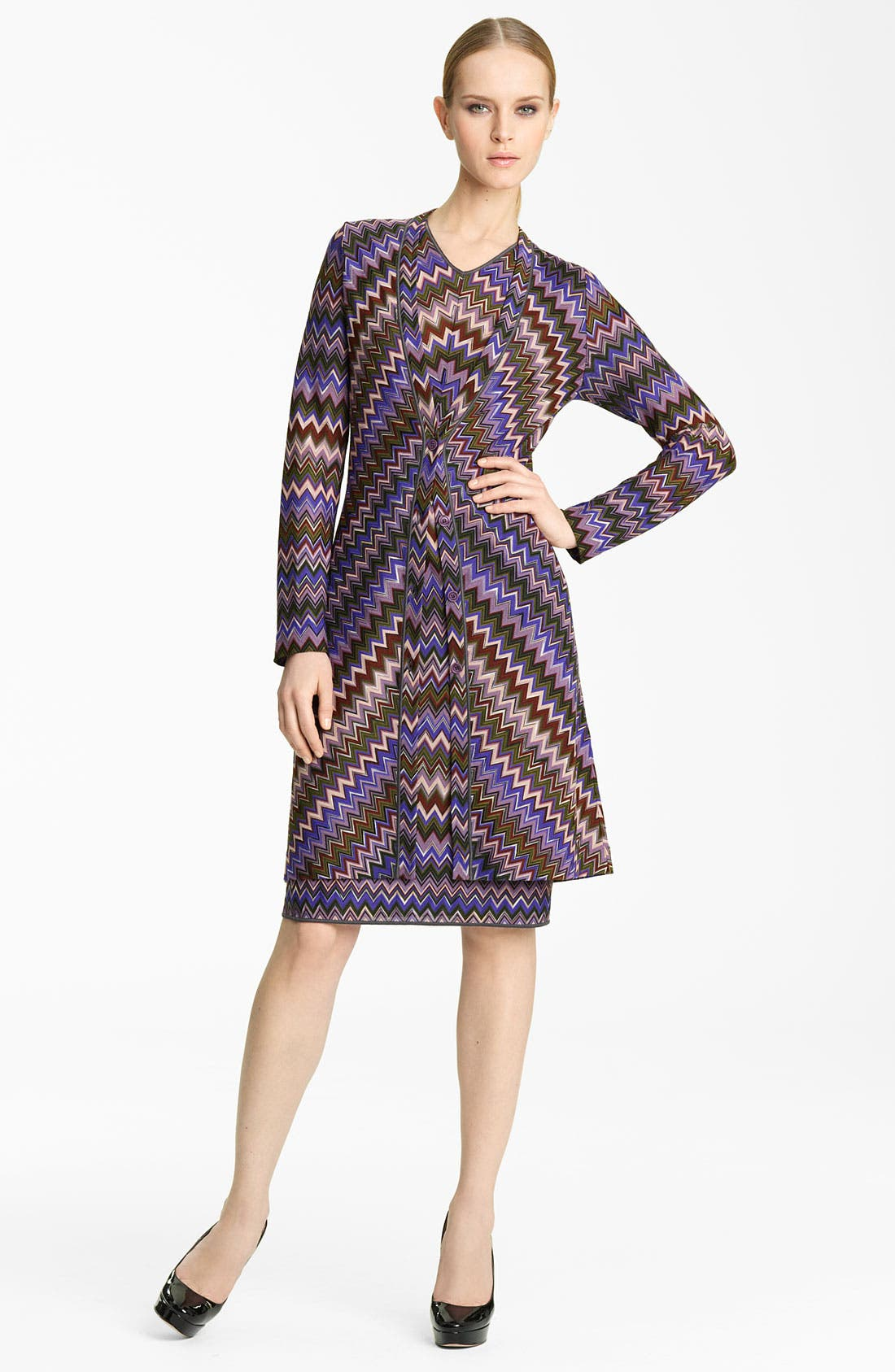 Alternate Image 1 Selected - Missoni Long Zigzag Knit Cardigan