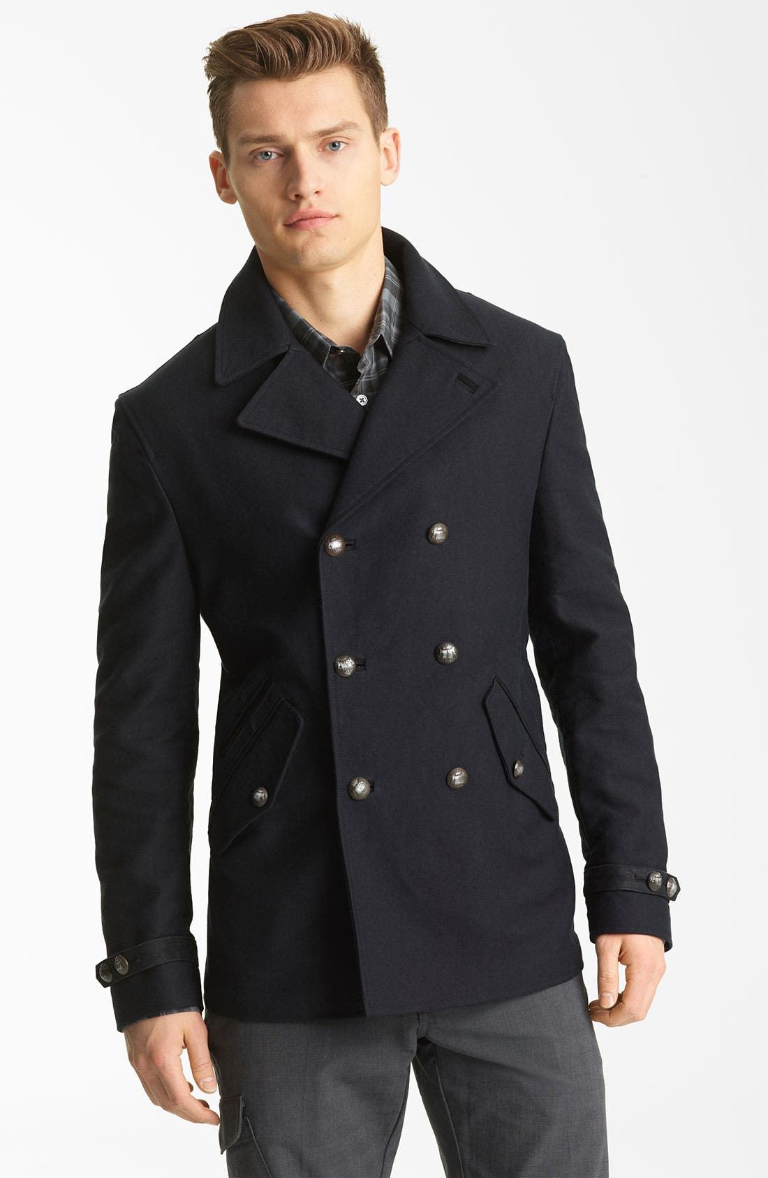 Alternate Image 1 Selected - John Varvatos Collection Peacoat