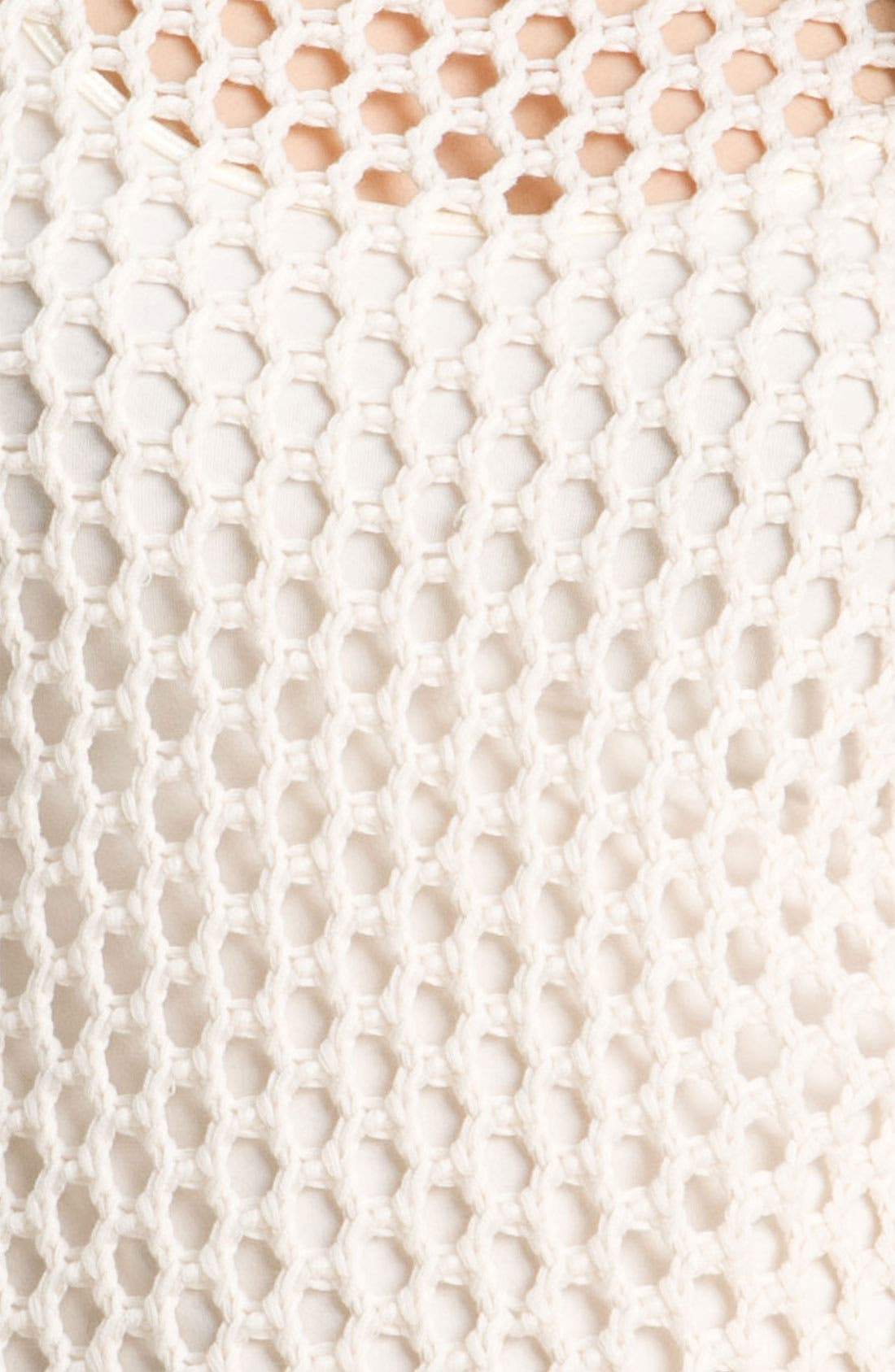 Alternate Image 3  - Vince Camuto Open Mesh Stitch Sweater