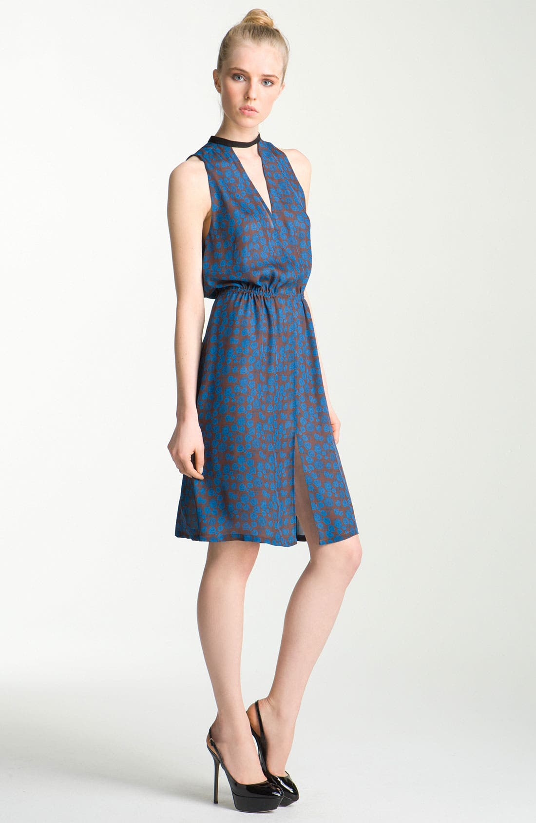 Alternate Image 1 Selected - A.L.C. 'Kenyatta' Cutout Print Silk Dress