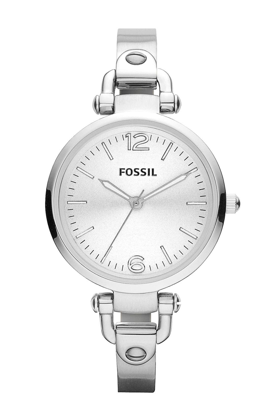 Main Image - Fossil 'Georgia' Round Dial Bangle Watch, 32mm