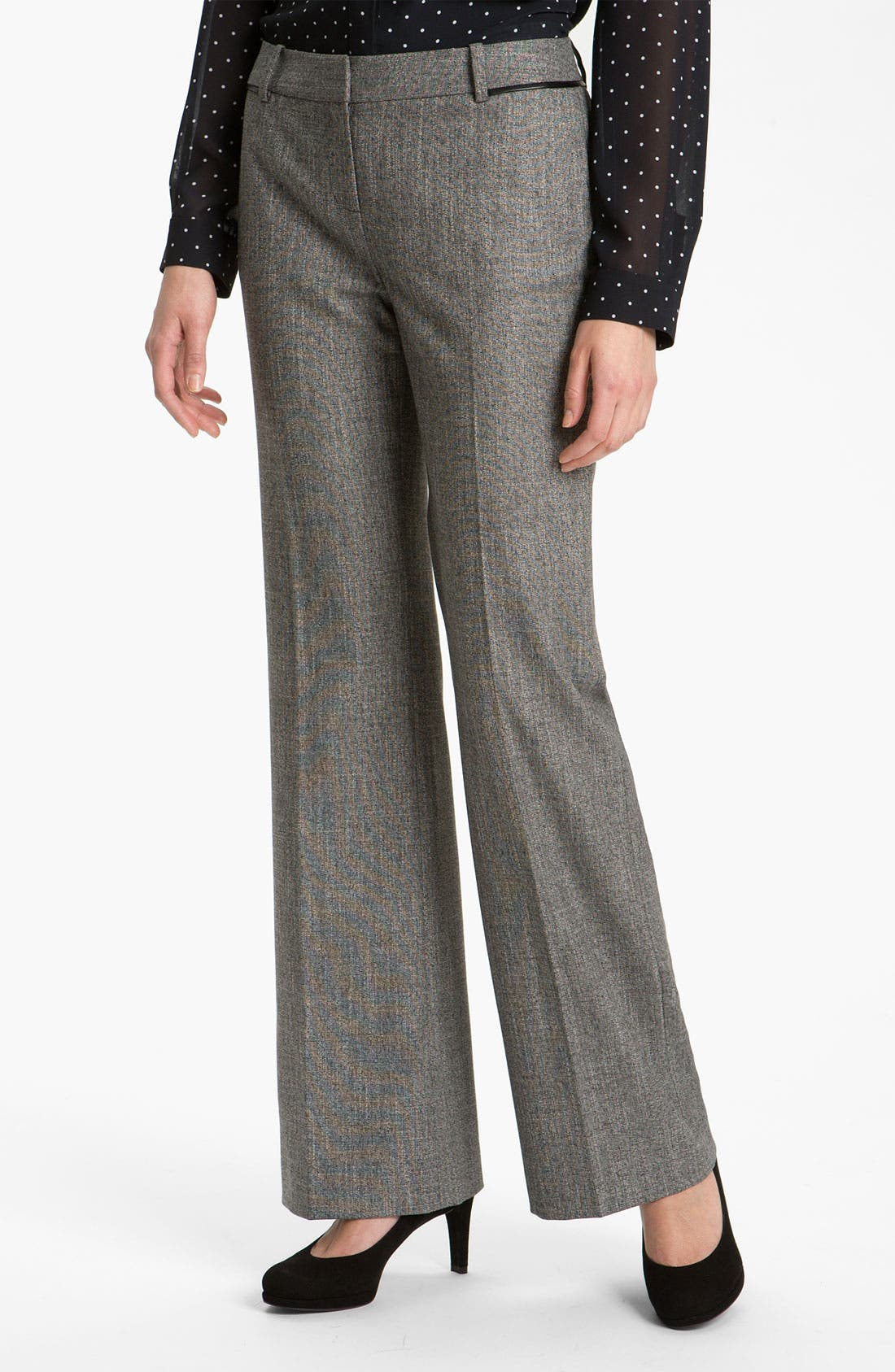 Alternate Image 1 Selected - Halogen® 'Taylor' Curvy Fit Two Tone Pants