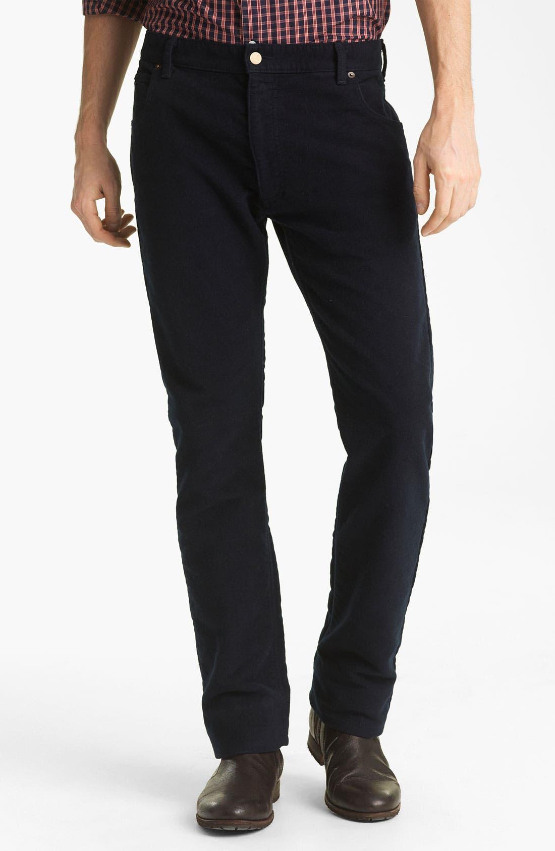 Alternate Image 2  - Billy Reid Straight Leg Jeans (Navy)