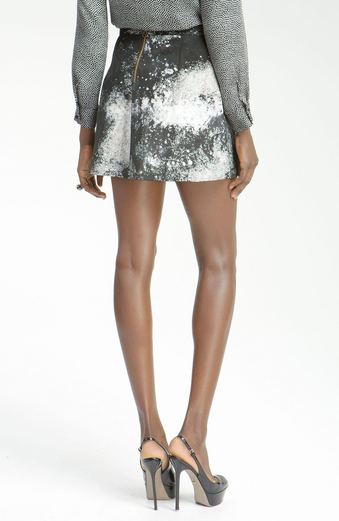 Alternate Image 2  - Kelly Wearstler 'Swagger' Print Leather Skirt