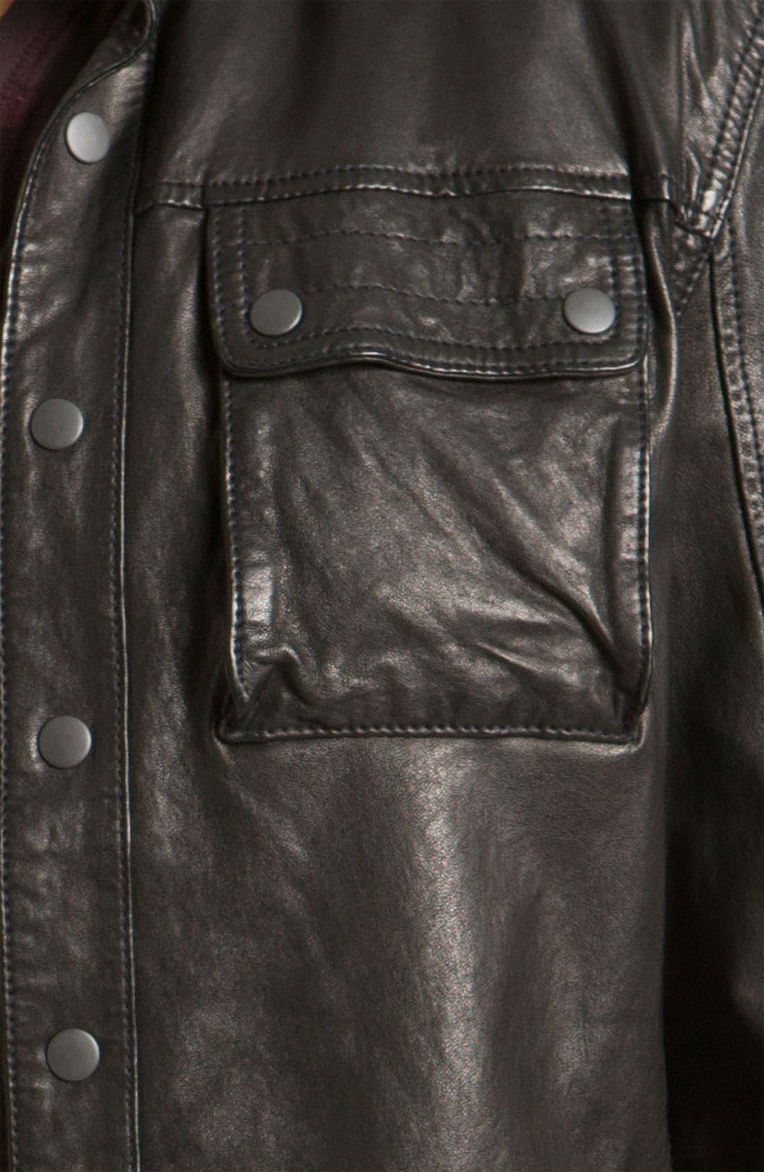 Alternate Image 3  - John Varvatos Star USA Leather Jacket