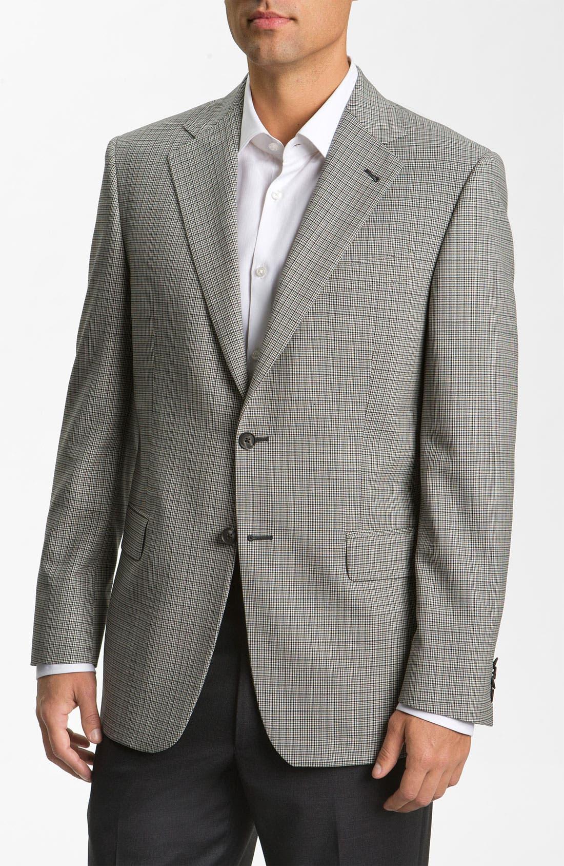 Main Image - Joseph Abboud 'Signature Silver' Check Sportcoat