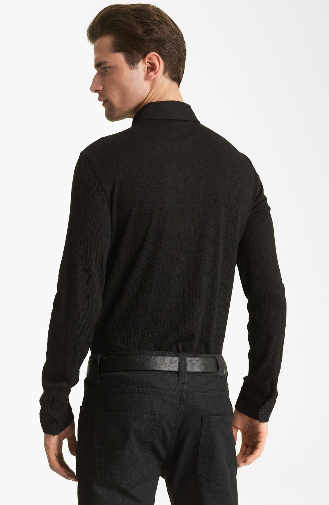 Alternate Image 2  - Armani Collezioni Knit Shirt