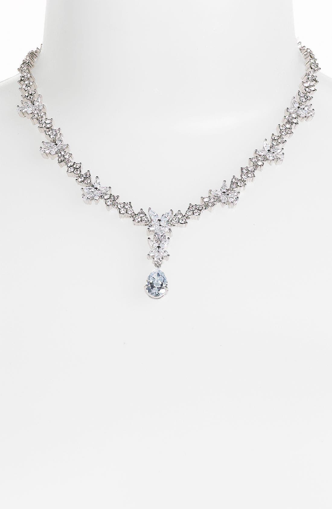 Alternate Image 1 Selected - Nina 'Sandria' Crystal Drop Necklace